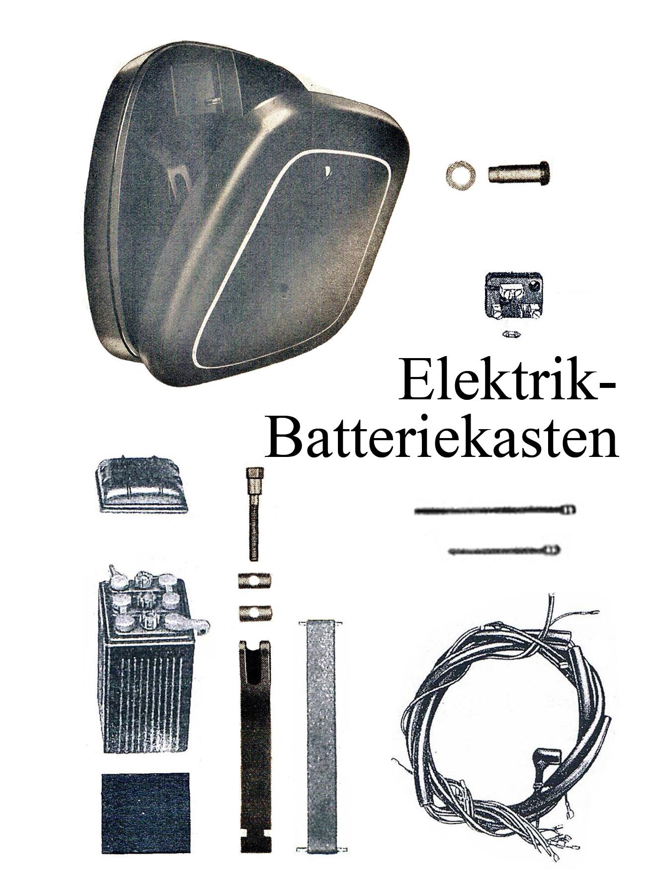 DDR-Motorrad IFA MZ BK 350 Ersatzteileliste Elektrik Batteriekasten Kabelbaum