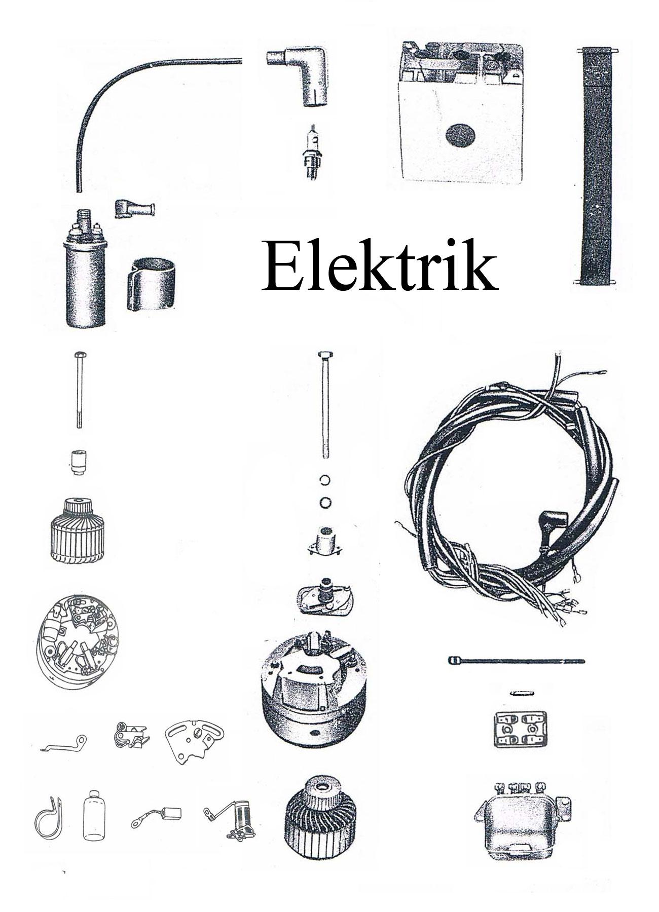 MZ ES 175/2-250/2 Ersatzteileliste Batterie Regler Kabelbaum Zündspule Lichtmaschine