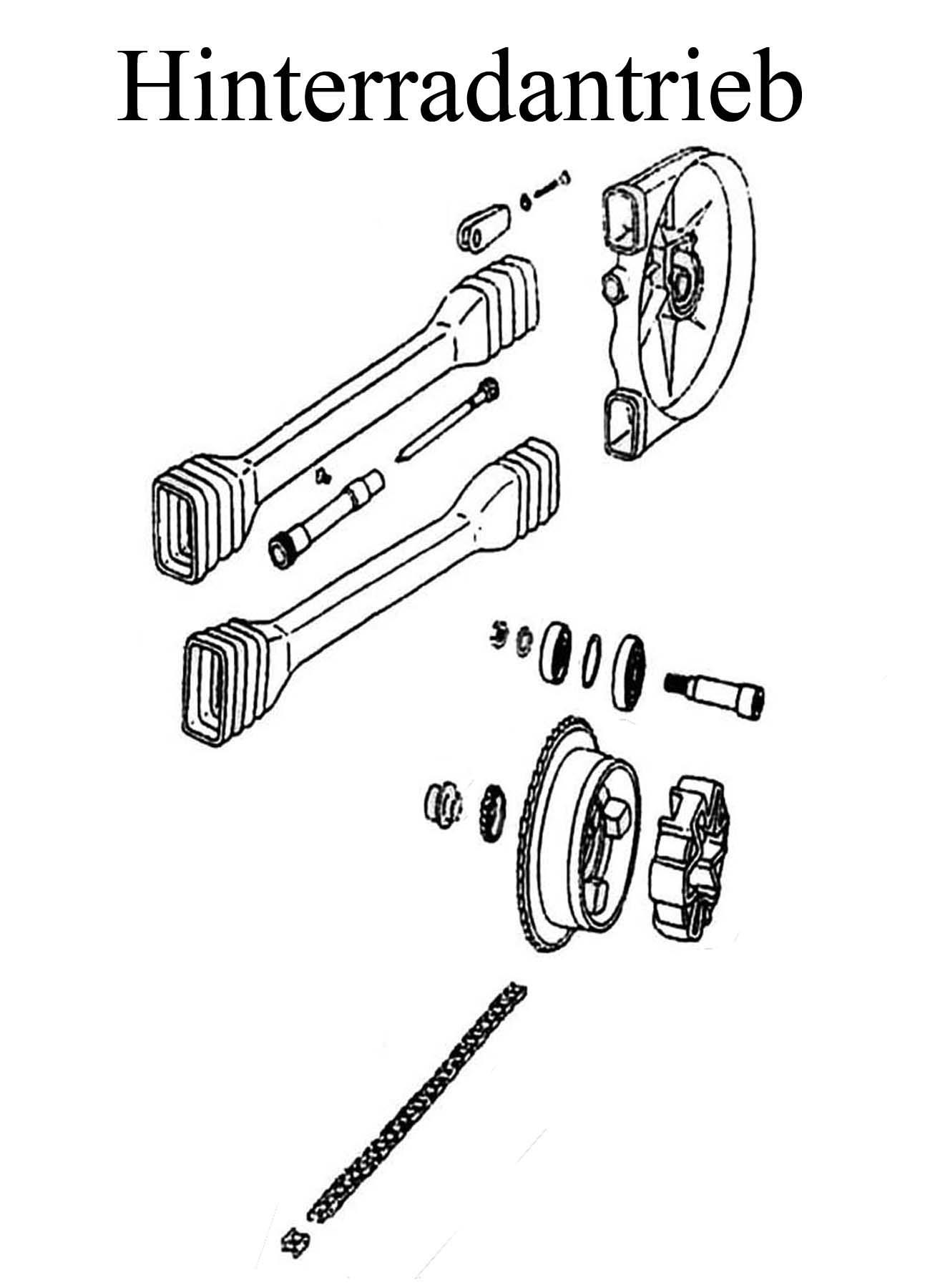 DDR-Motorrad MZ ETZ 250 Ersatzteile Hinterradantriebranz