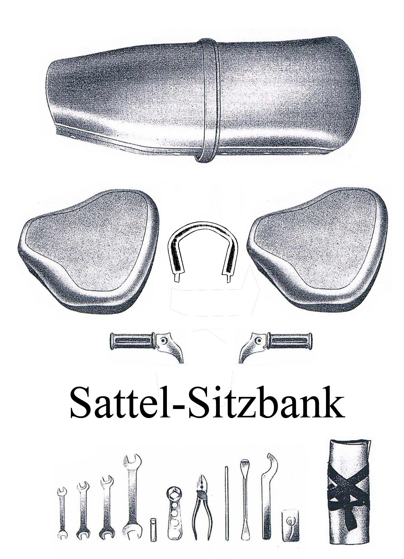 DDR-Motorrad MZ ES 125-150/0-1 Ersatzteileliste Satteldecke Sitzbankbezug Bordwerkzeug Soziusfußrasten