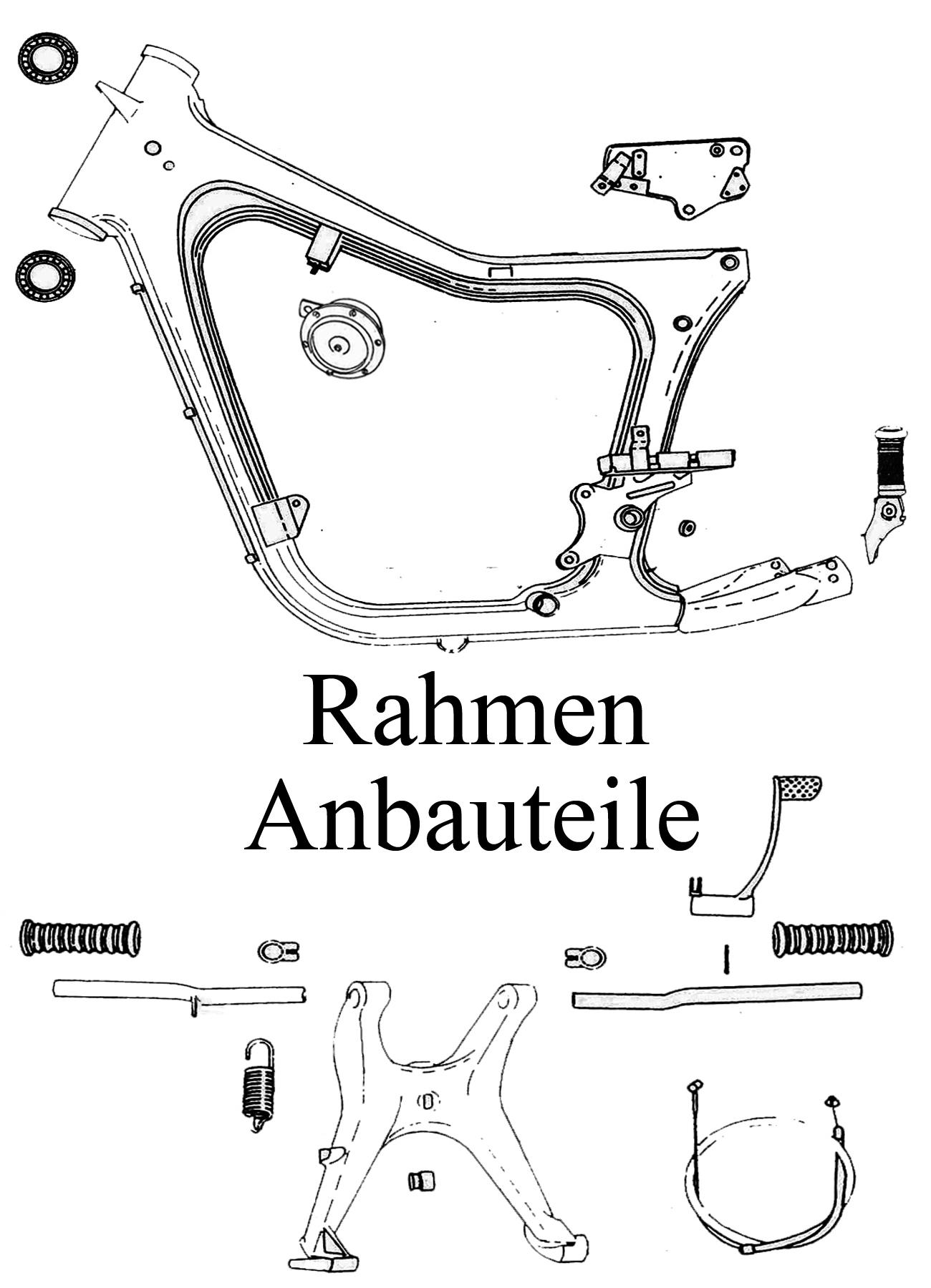 DDR-Motorrad MZ TS 125 150 Ersatzteile Rahmen Anbauteile