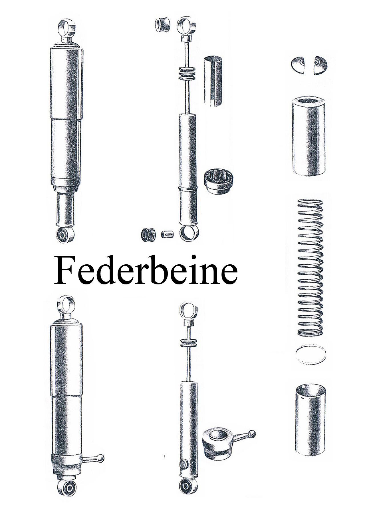 MZ ES 125-150/0-1 Ersatzteileliste Federbeine Chromhülsen Lagergummi Stoßdämpferelement