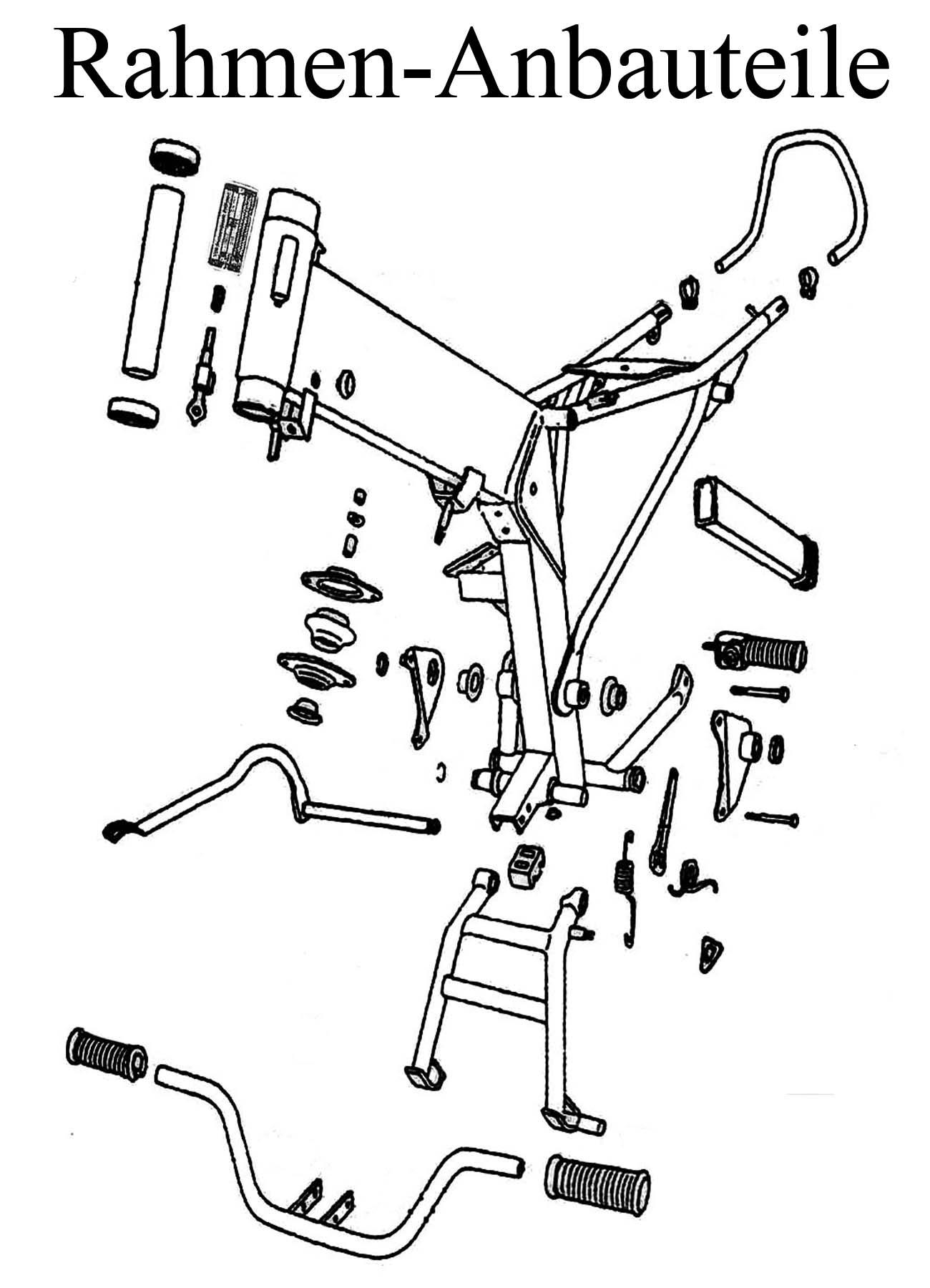 MZ ETZ 250 Ersatzteile Rahmen Anbauteile Fahrgestell