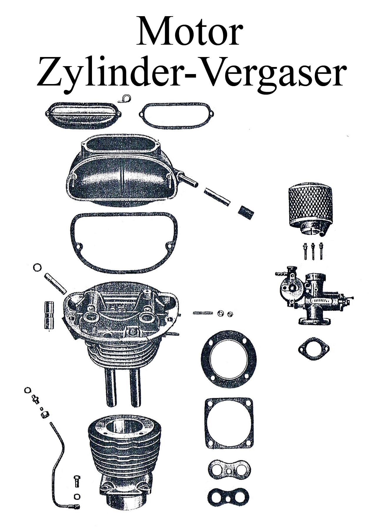 DDR-Motorrad EMW R 35 Ersatzteileliste Motor Zylinderkopfdichtung Vergaserflansch