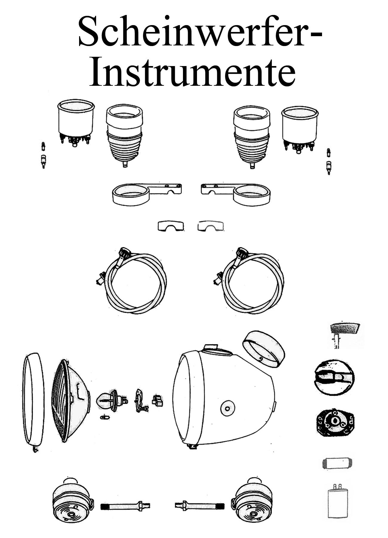 MZ TS 250/0-1 Ersatzteile Scheinwerfer Instrumente
