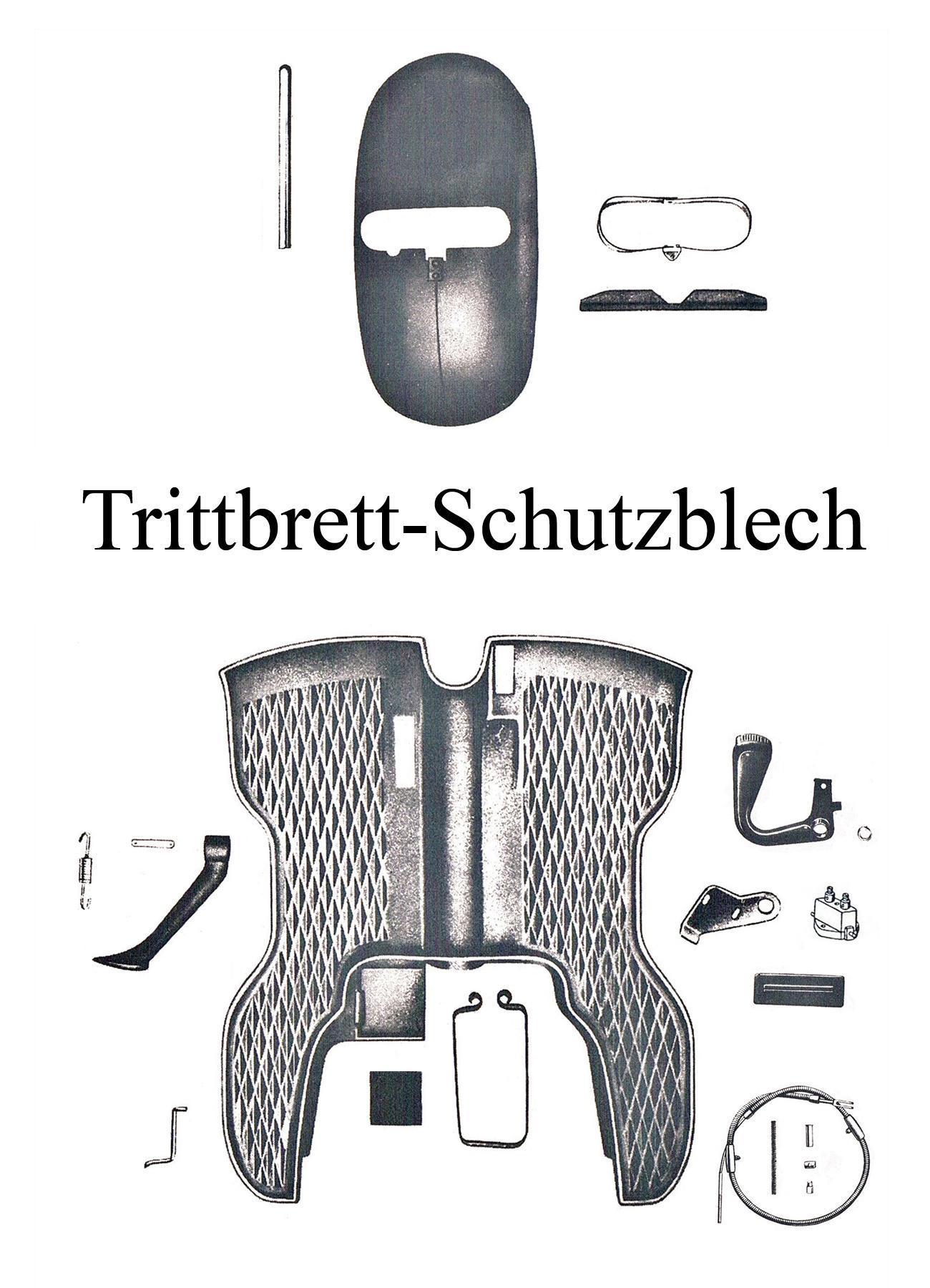 DDR-Motorrad IWL Berliner Roller SR 59 Ersatzteileliste Trittbrett Seitenstütze Ständerfeder Schutzblech Kedergummi Buchse Büchse