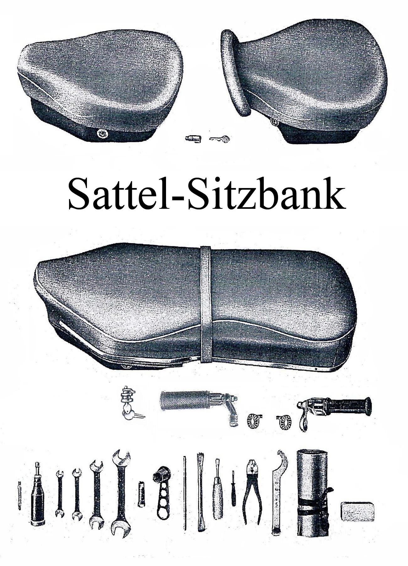 MZ ES 175-250/0-1 Ersatzteileliste Satteldecke Sitzbankbezug Gummi Haltegriff Schloß Soziusfußrasten Werkzeug