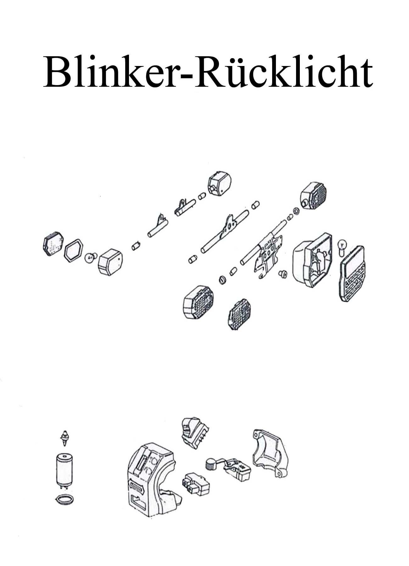 MZ ETZ 251 Ersatzteileliste Blinkerglas Rücklichtkappe Schalter Blinkgeber Halter Birne Lampe