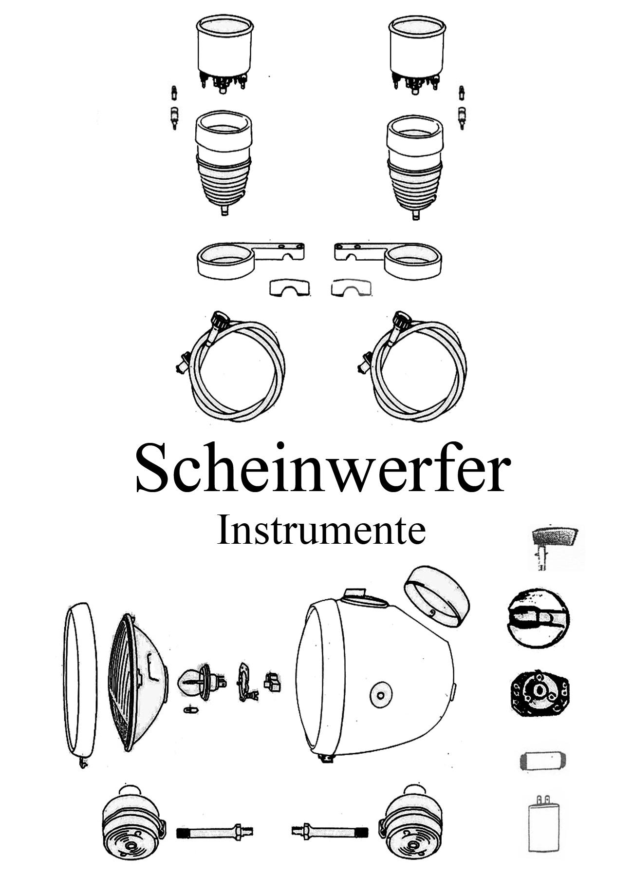MZ TS 125 150 Ersatzteile Scheinwerfer Instrumente