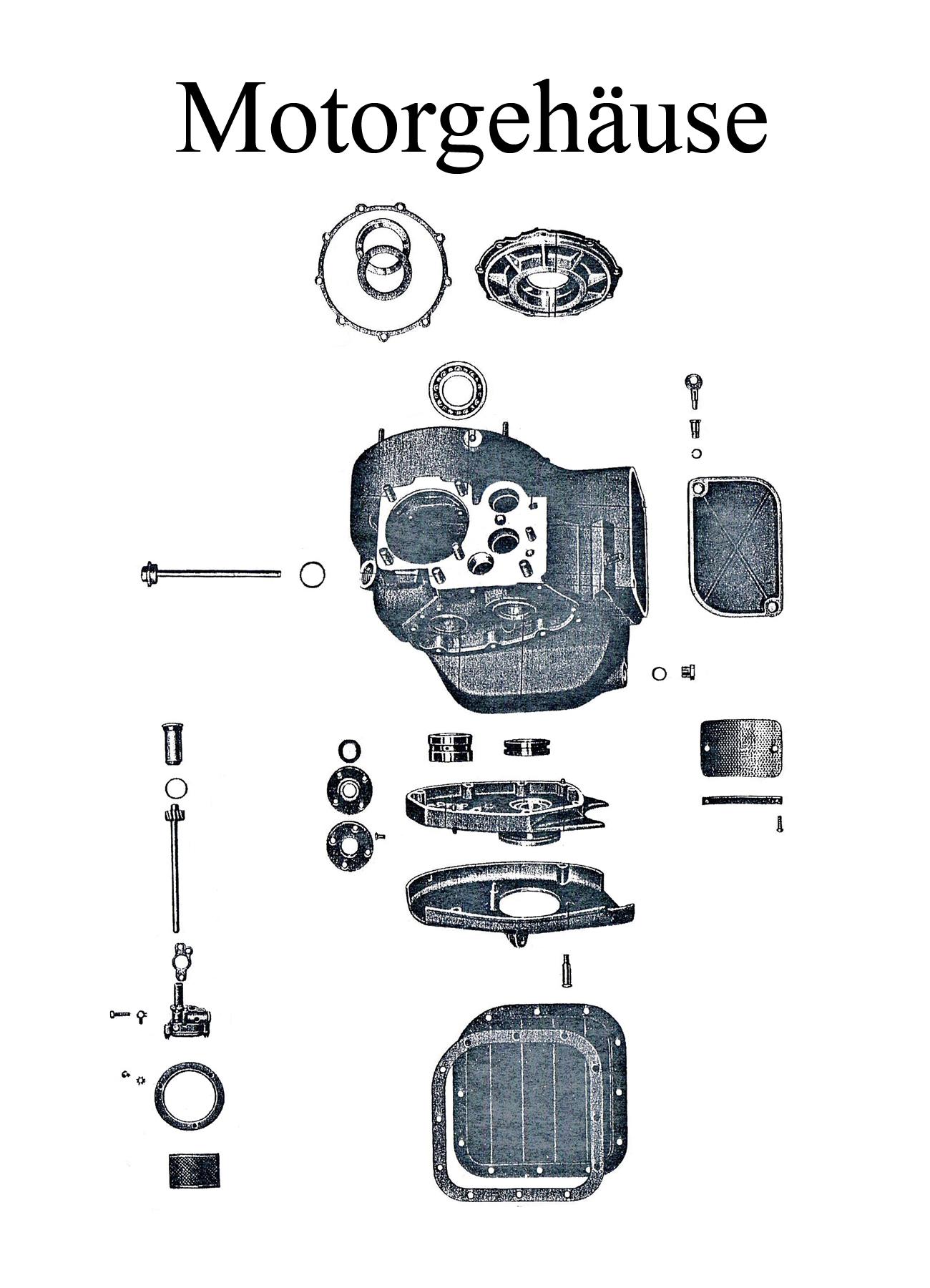 DDR-Motorrad EMW R 35 Ersatzteileliste Motorgehäuse Dichtungsatz Wellendichtring