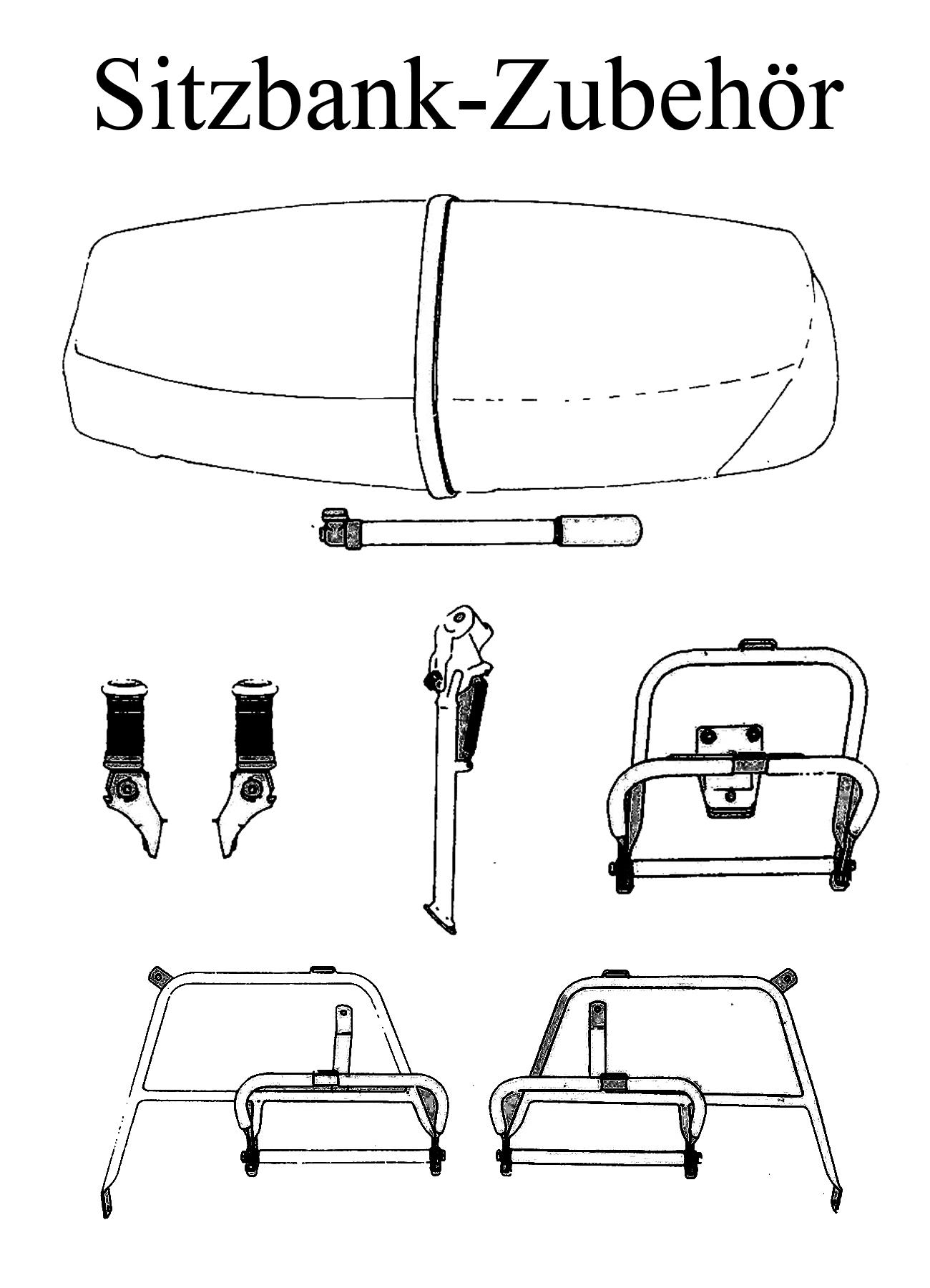 MZ TS 125 150 Ersatzteile Sitzbank