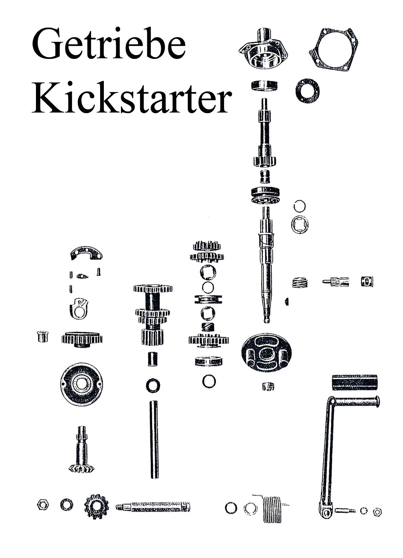 DDR-Motorrad EMW R 35 Ersatzteileliste Kickstartergummi Welle Mutter Zahnrad