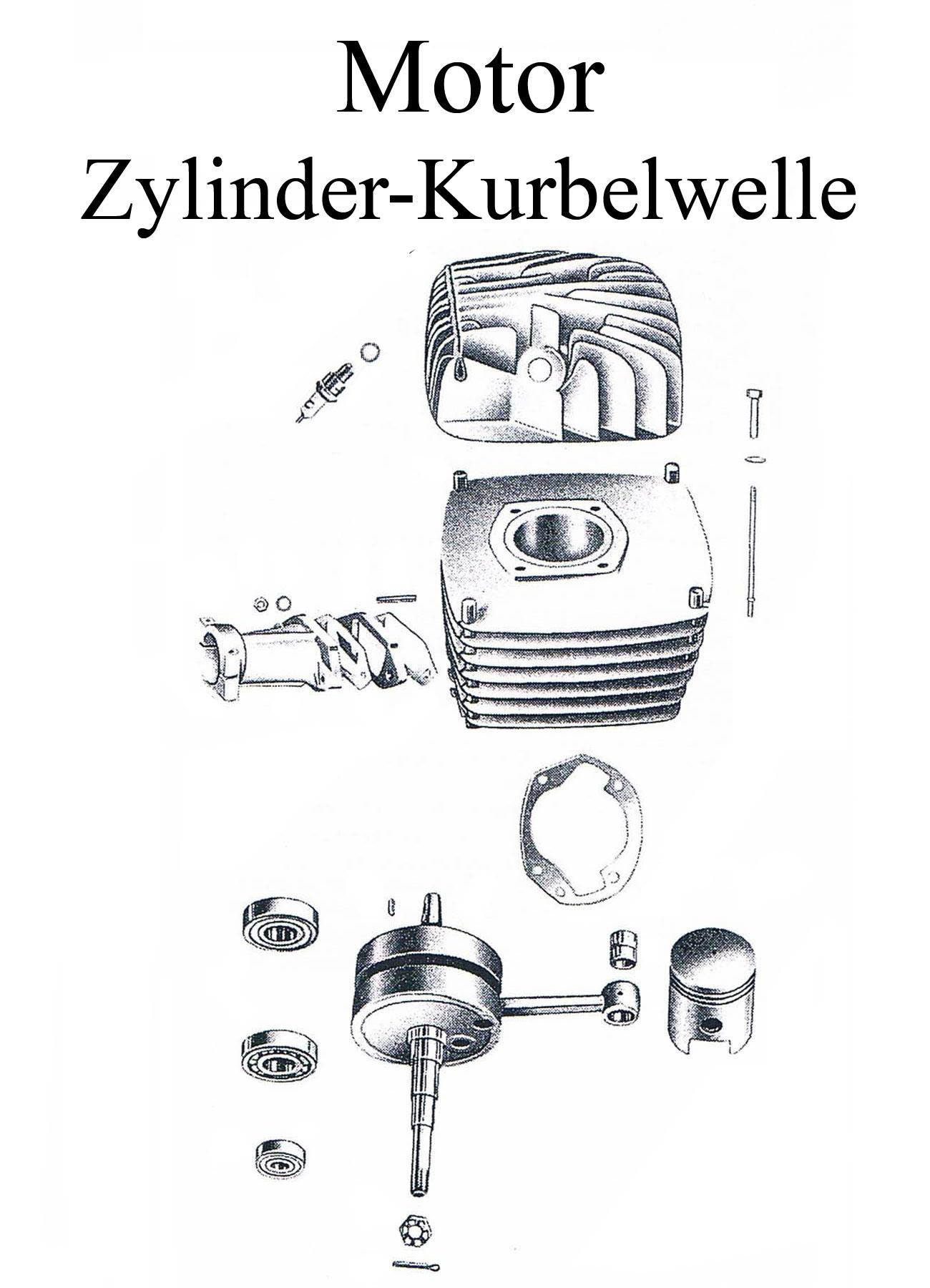DDR-Motorrad MZ ES 175/2-250/2 Ersatzteileliste Motor Kurbelwelle Zylinderkopfdichtung Kolbenbolzen Lager Wellendichtringe