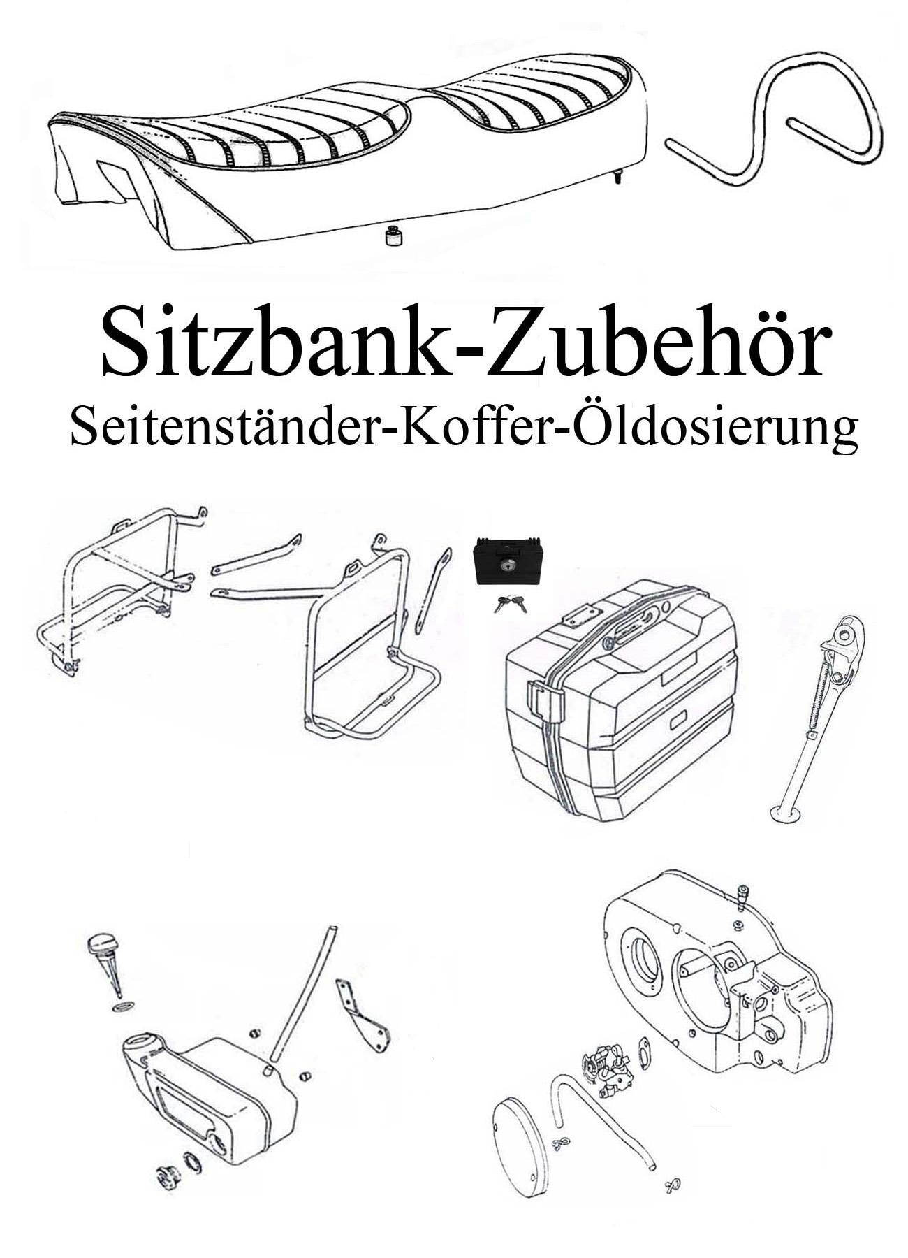 DDR-Motorrad MZ ETZ 250 Ersatzteile Sitzbank Zubehör