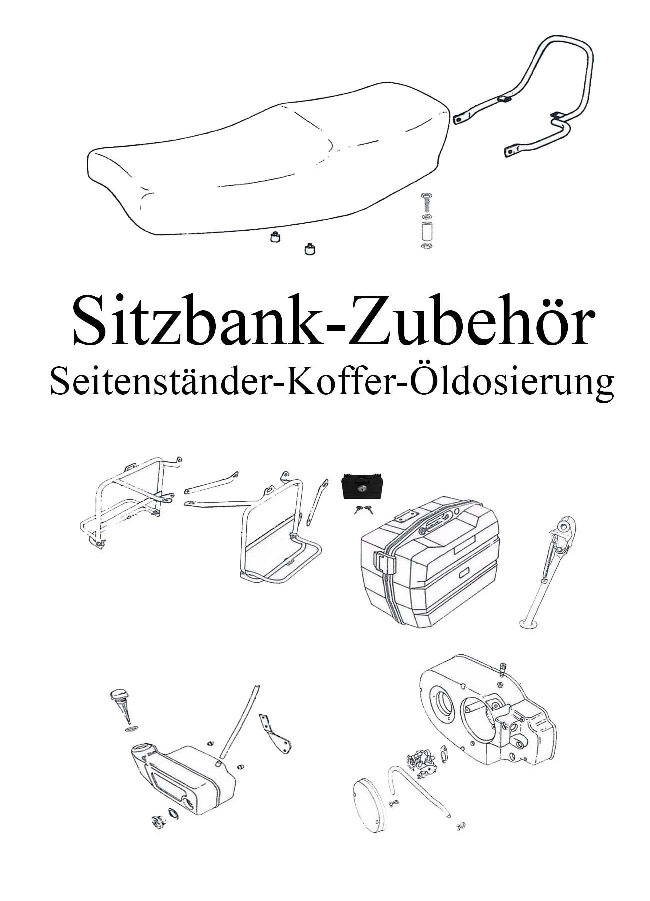 DDR-Motorrad MZ ETZ 251 Ersatzteileliste Sitzbank Zubehör Seitengepäckträger Koffer Schloß Ständer Haltebügel Kralle Pneumant Öldosierung Getrenntschmierung Pumpe