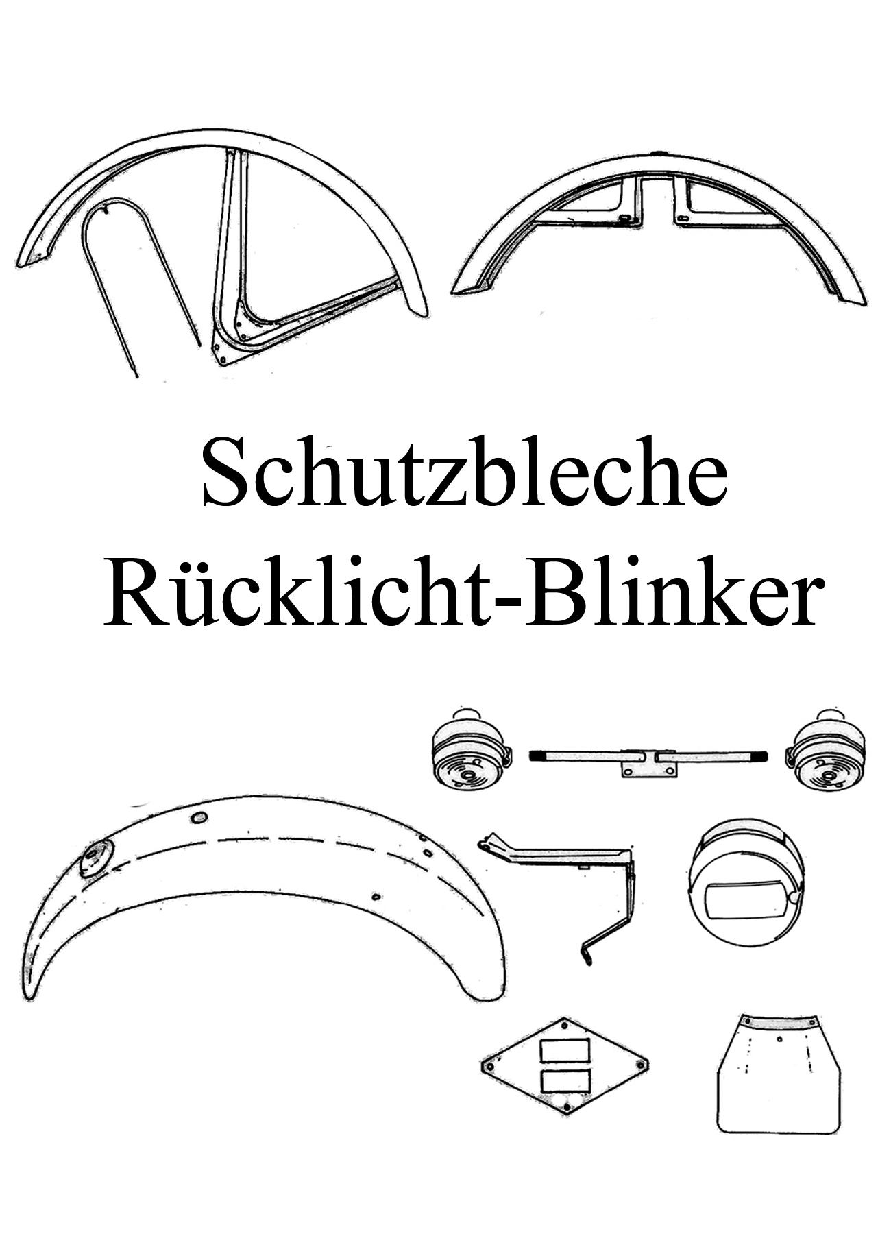 MZ TS 250/0-1 Ersatzteile Schutzblech Kotflügel Blinker Rücklicht