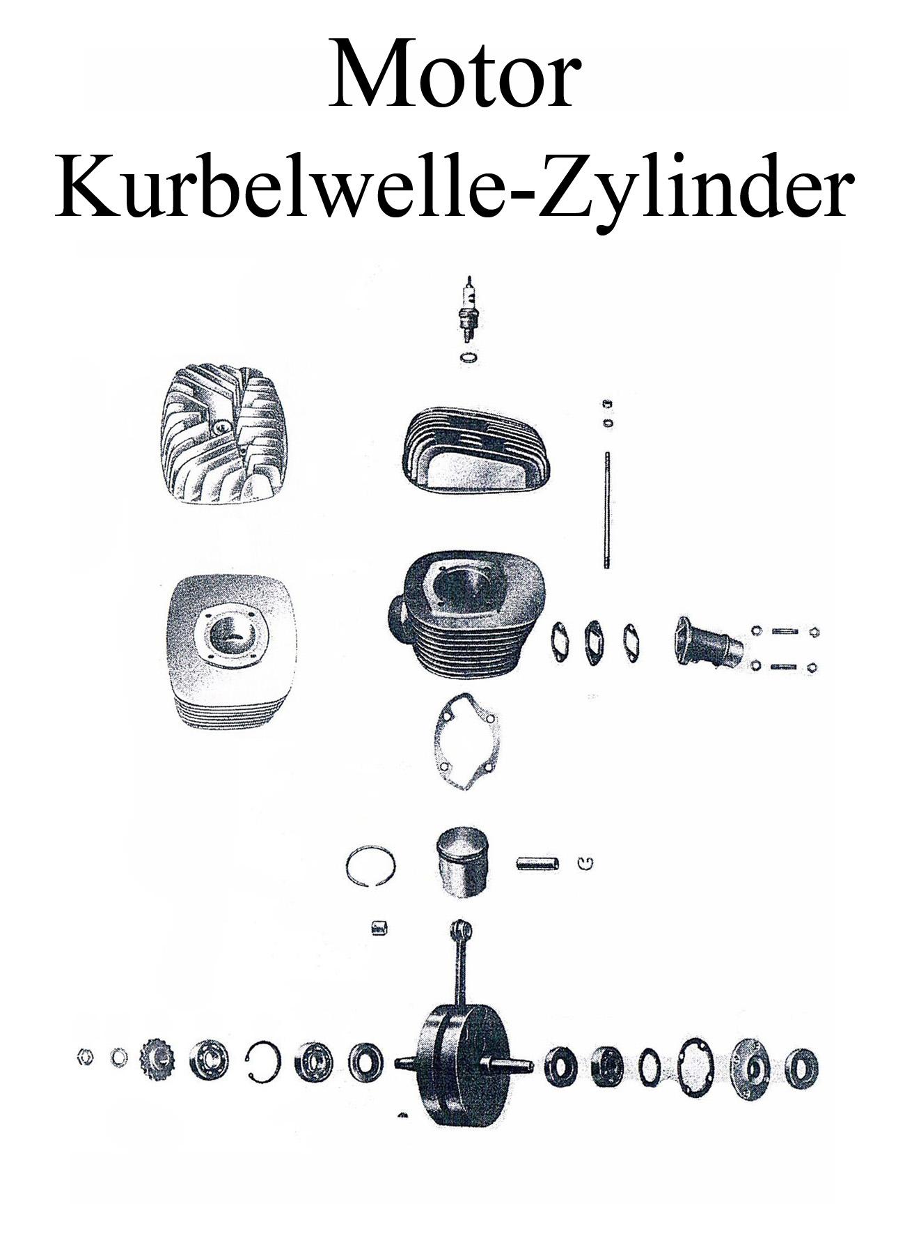 DDR-Motorrad MZ ES 125-150/0-1 Ersatzteileliste Motor Zylinder Kolbenbolzen Kurbelwelle Lager Dichtungen Wellendichtringe