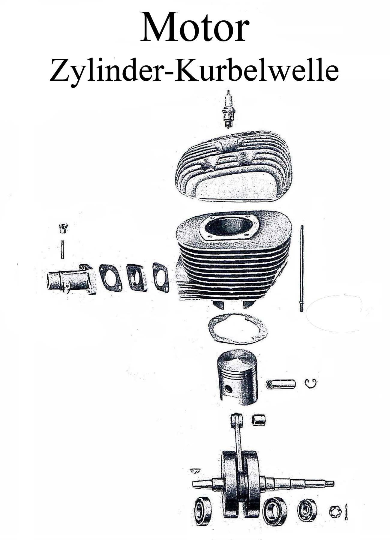 MZ ES 175-2500-1 Ersatzteileliste Motor Kurbelwelle Zylinderkopfdichtung Kolbenbolzen Lager Wellendichtringe