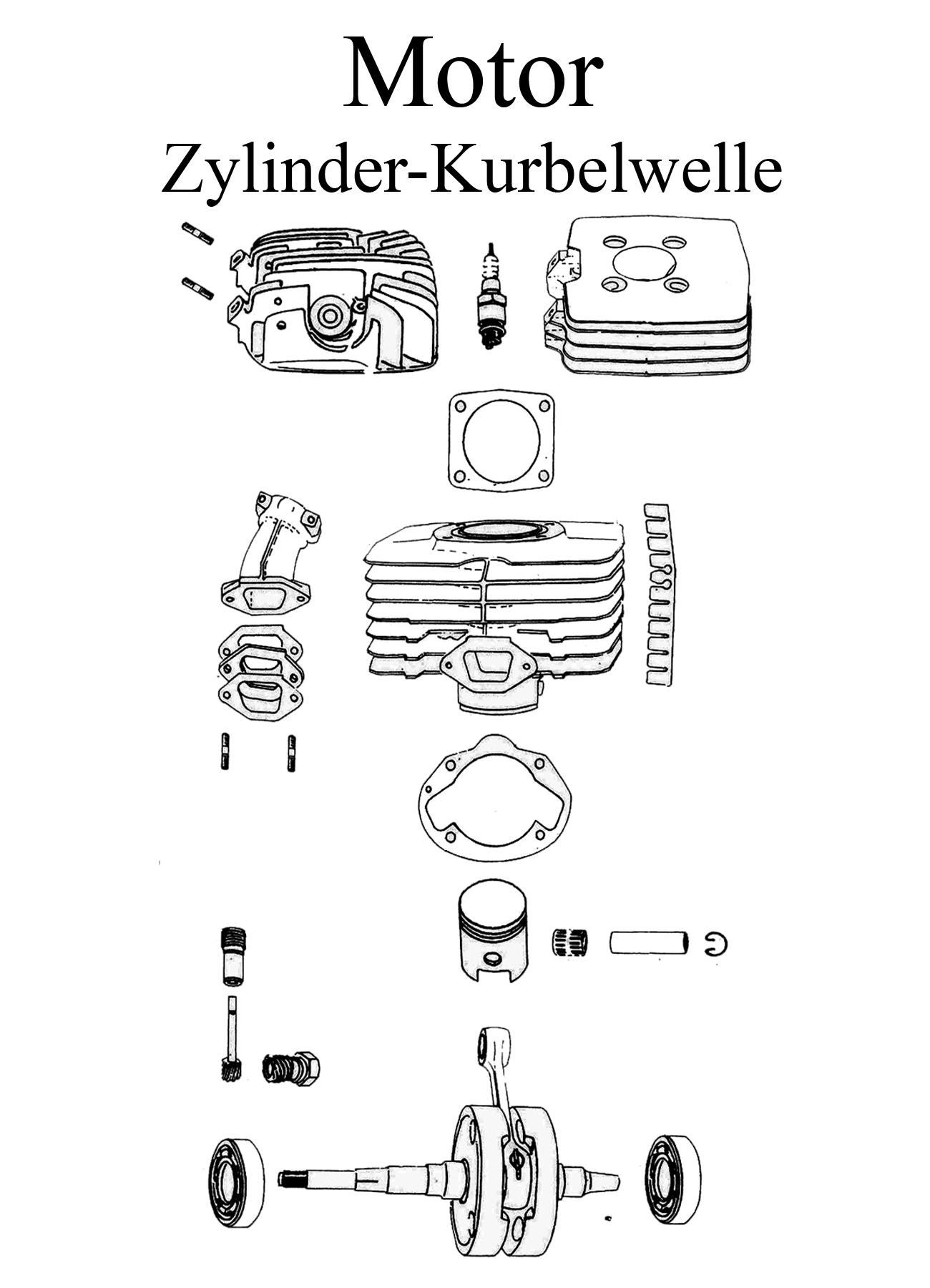 MZ TS 250/0-1 Ersatzteile Motor Zylinder Kurbelwelle