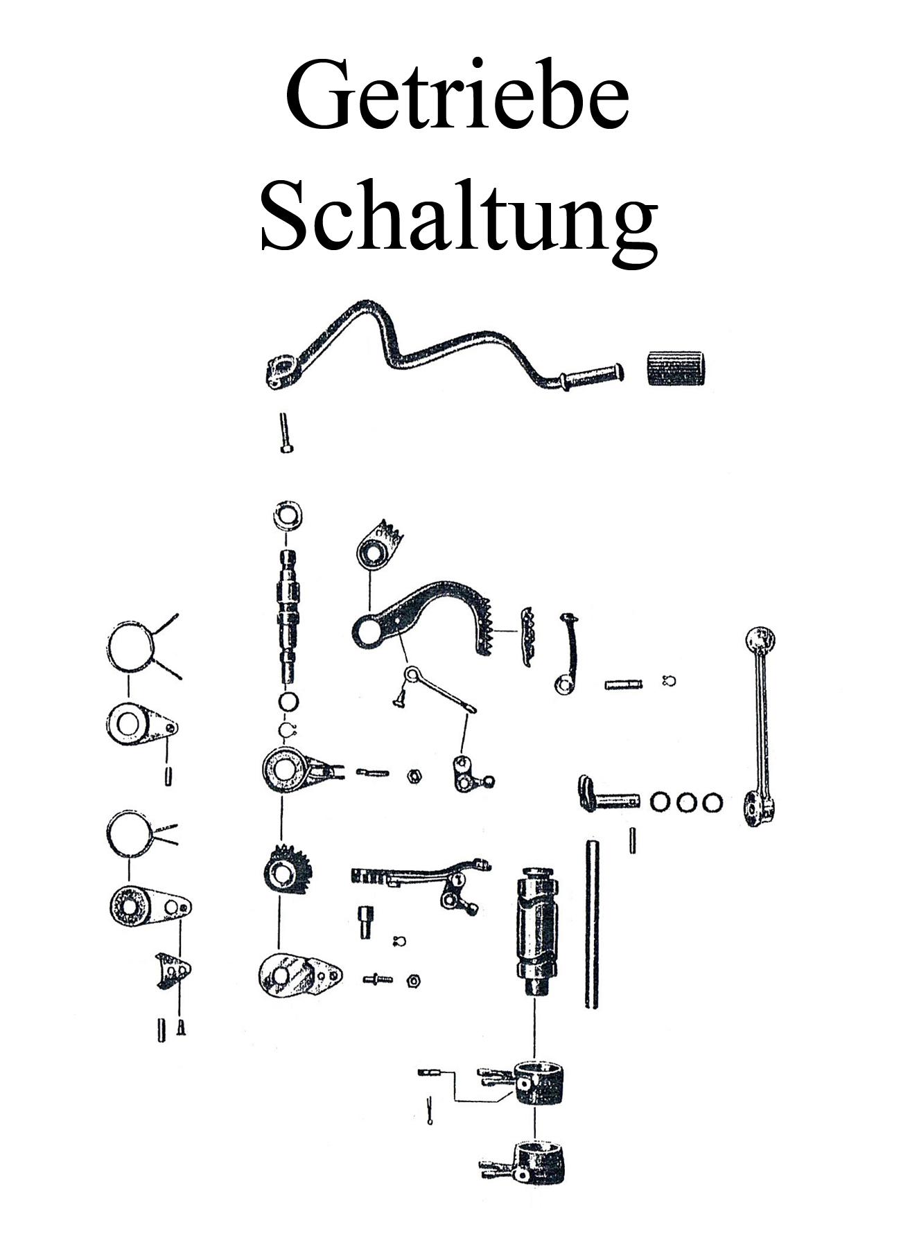 DDR-Motorrad EMW R 35 Ersatzteileliste Getriebe Handschalthebelgummi Dichtring
