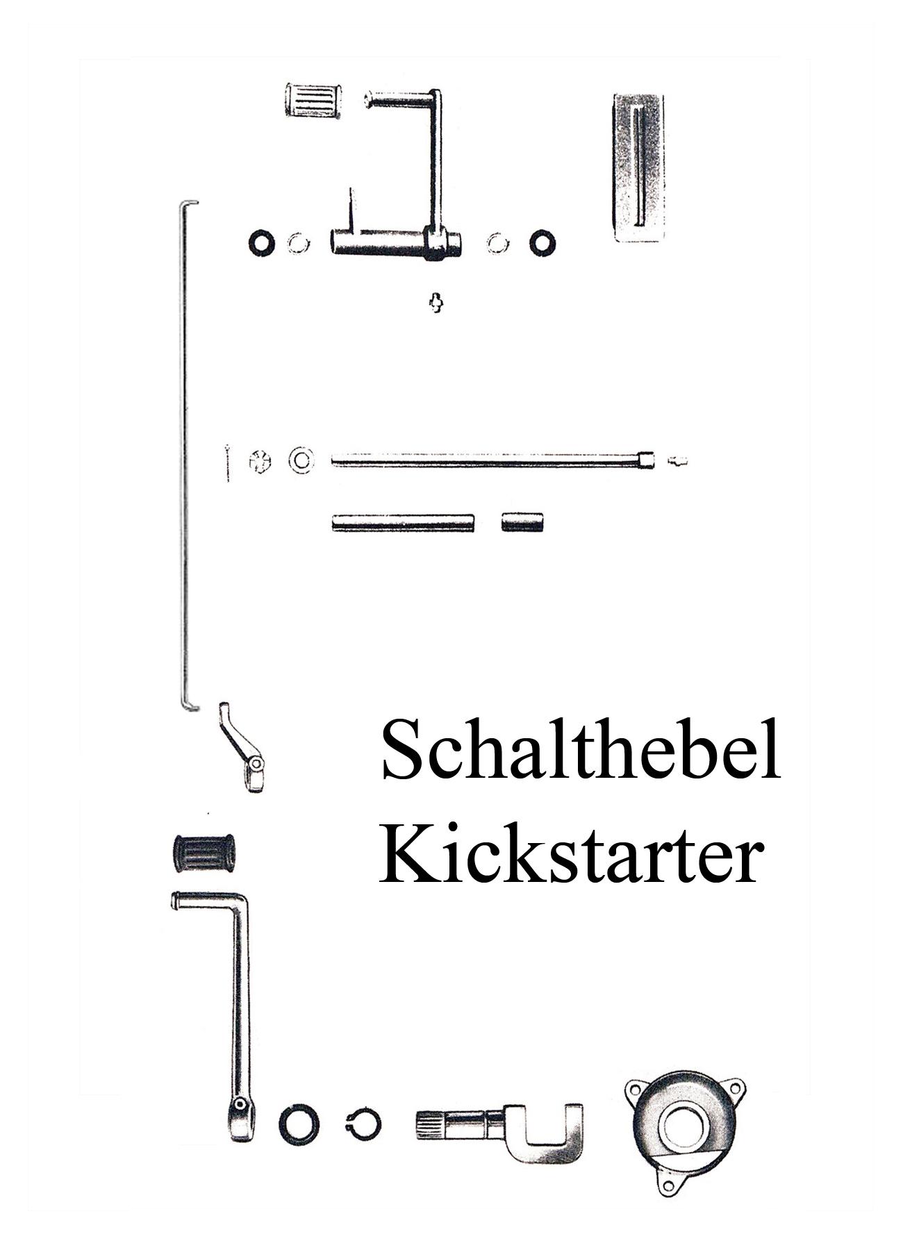 DDR-Motorrad IWL Berliner Roller SR 59 Ersatzteileliste Motor Kickstartergummi Fußschalthebelgummi Buchse Pedalwelle Schaltstange