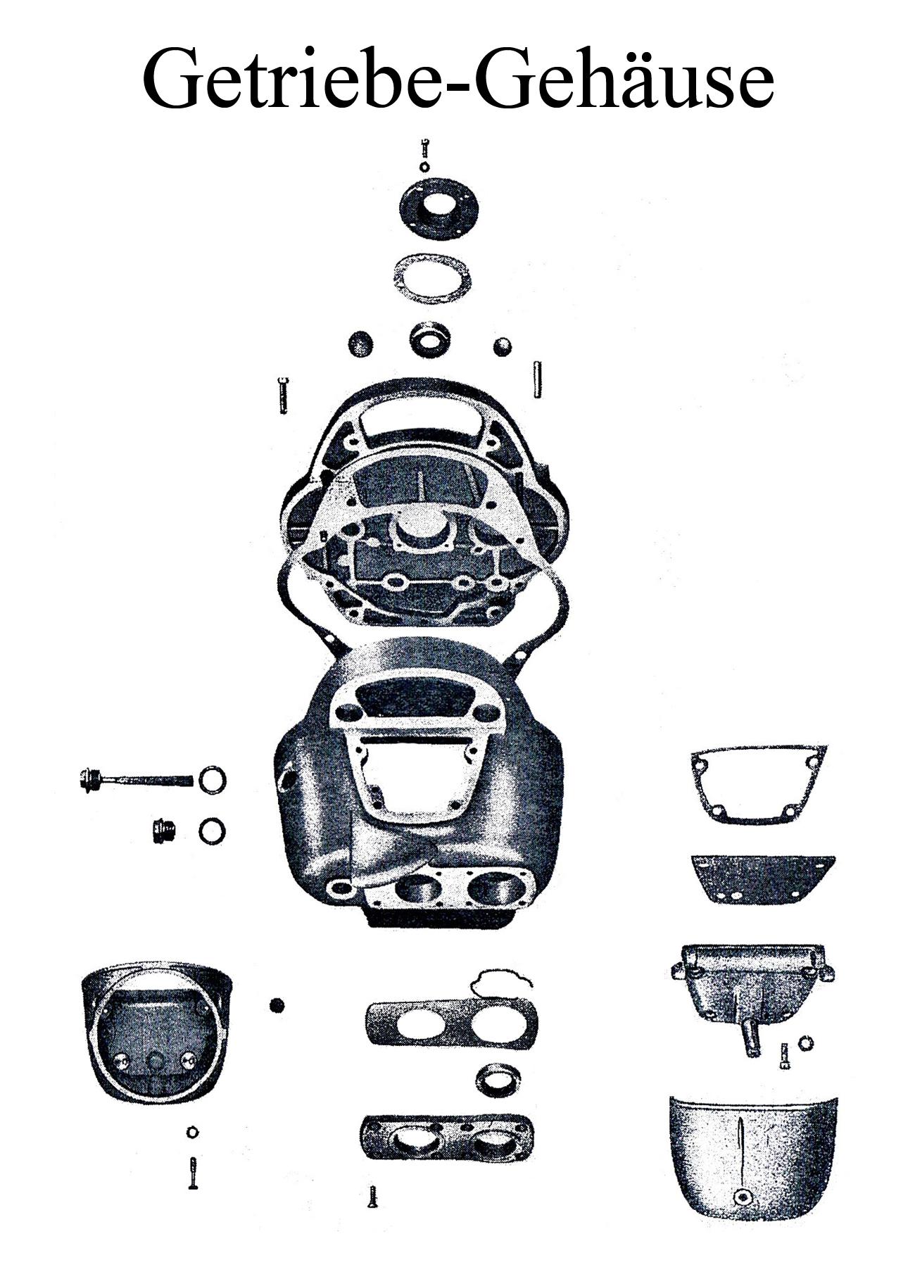 DDR-Motorrad IFA MZ BK 350 Ersatzteileliste Getriebegehäuse Dichtungen