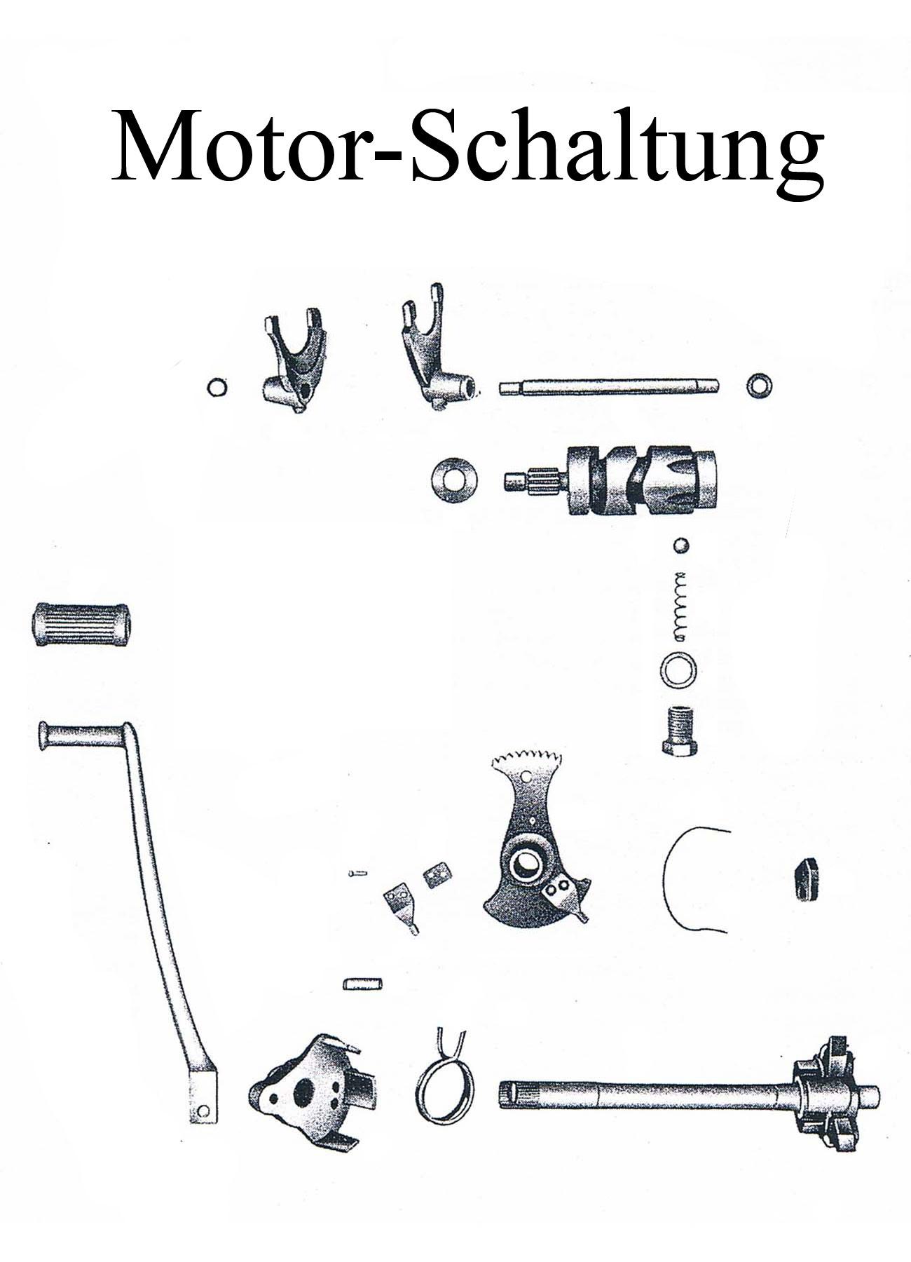 MZ ES 175/2-250/2 Ersatzteileliste Motor Schaltung Fußschalthebelgummi Welle Schaltklinkenarretierfeder