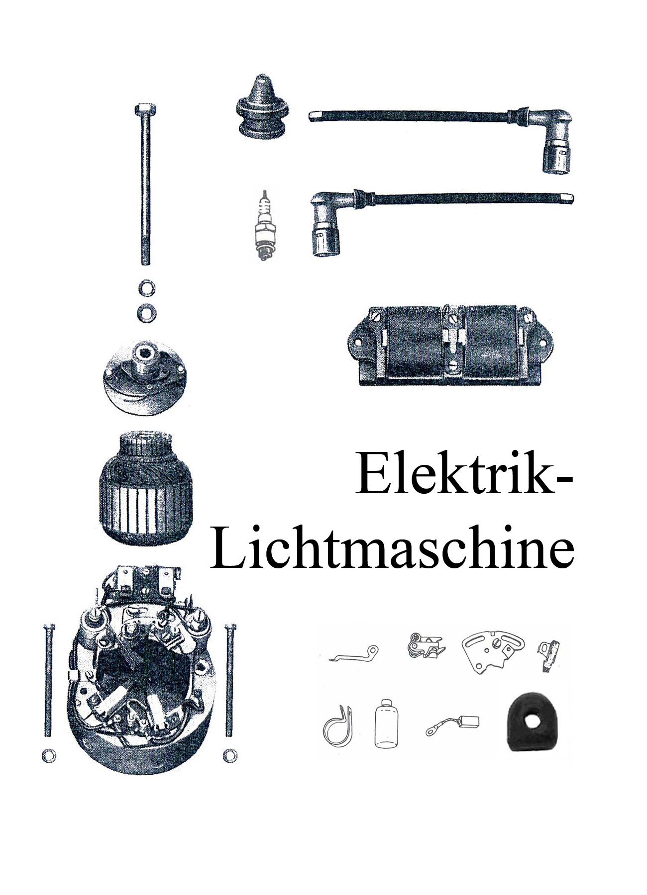 DDR-Motorrad IFA MZ BK 350 Ersatzteileliste Elektrik Lichtmaschine Zündanlage