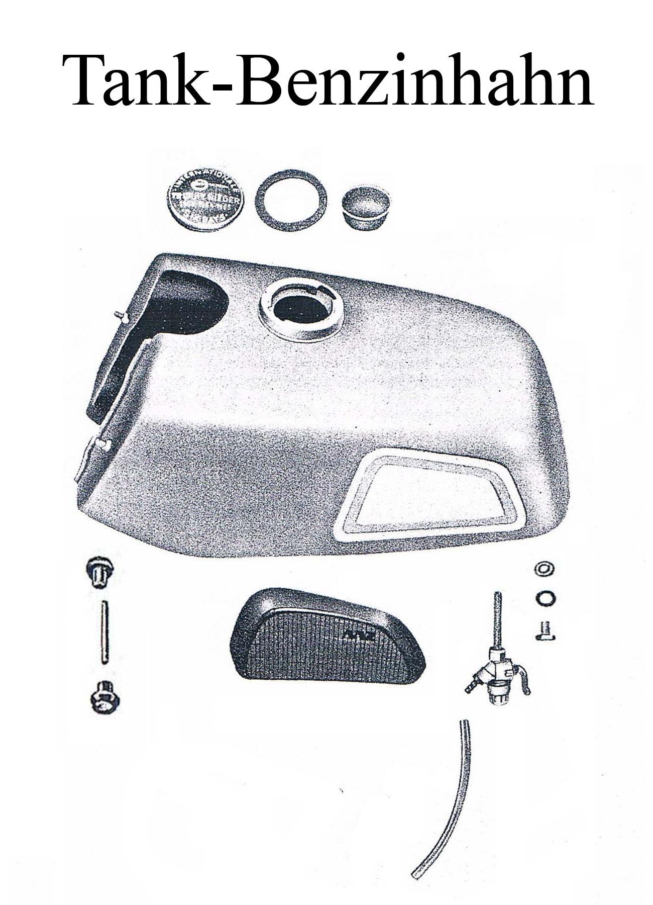 MZ ES 175/2-250/2 Ersatzteileliste Tankdeckel Benzinhahndichtung Kniekissen