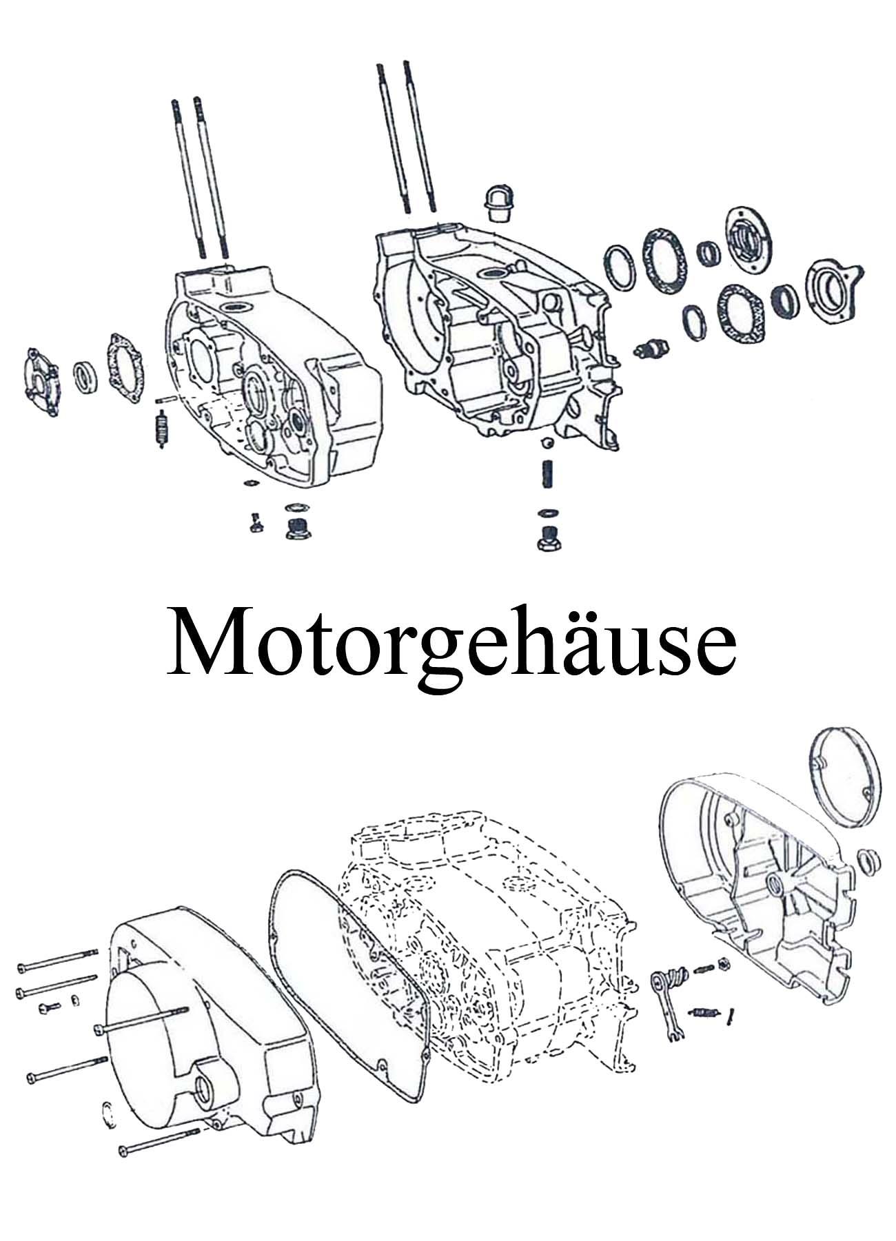 MZ ETZ 125-150 Ersatzteileliste Motor Gehäuse Kupplungsdeckel Dichtung Satz Wellendichtring DDR Stehbolzen Getriebeöl Leerlaufschalter