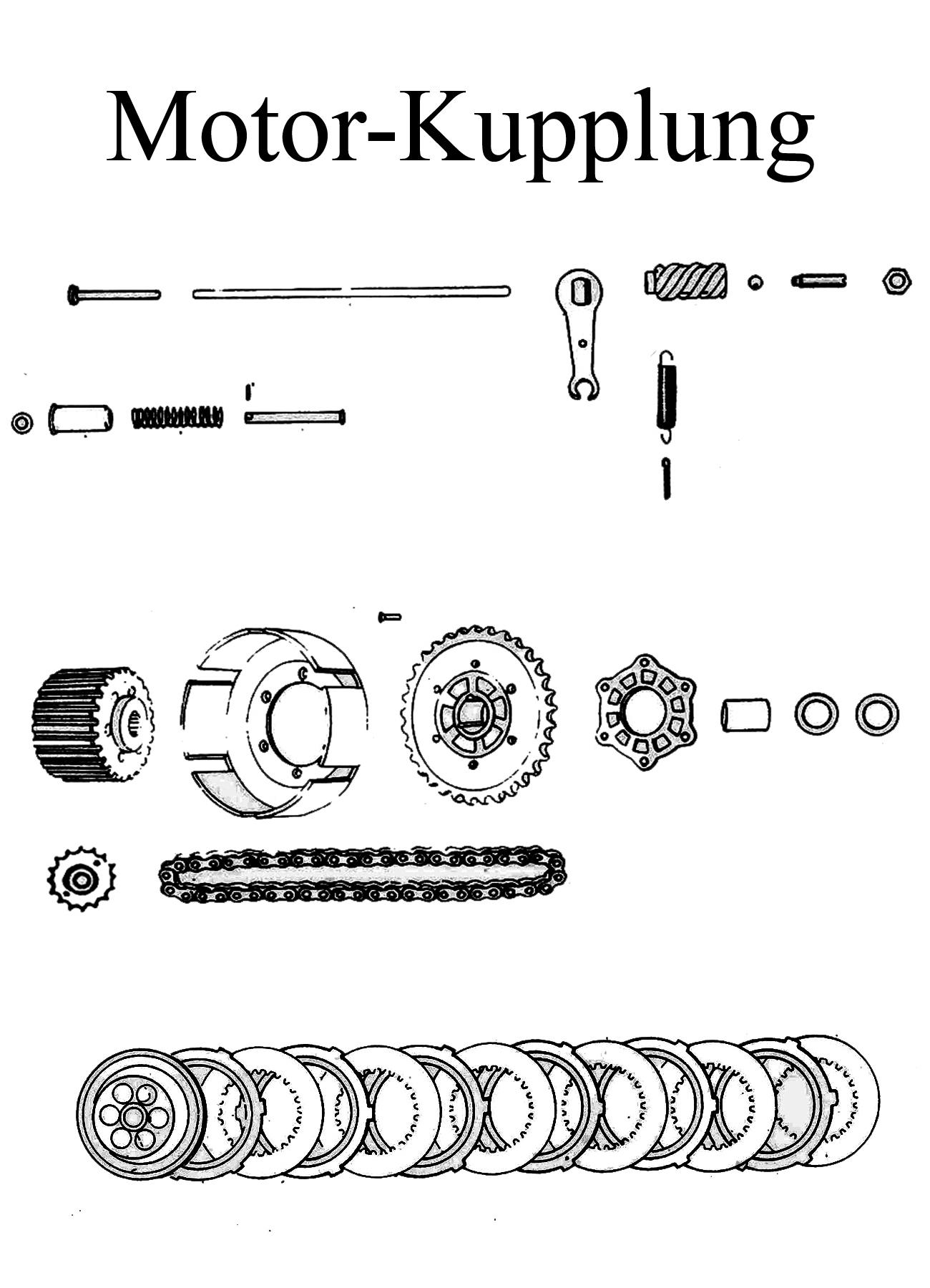 MZ TS 125 150 Ersatzteile Motor Kupplung
