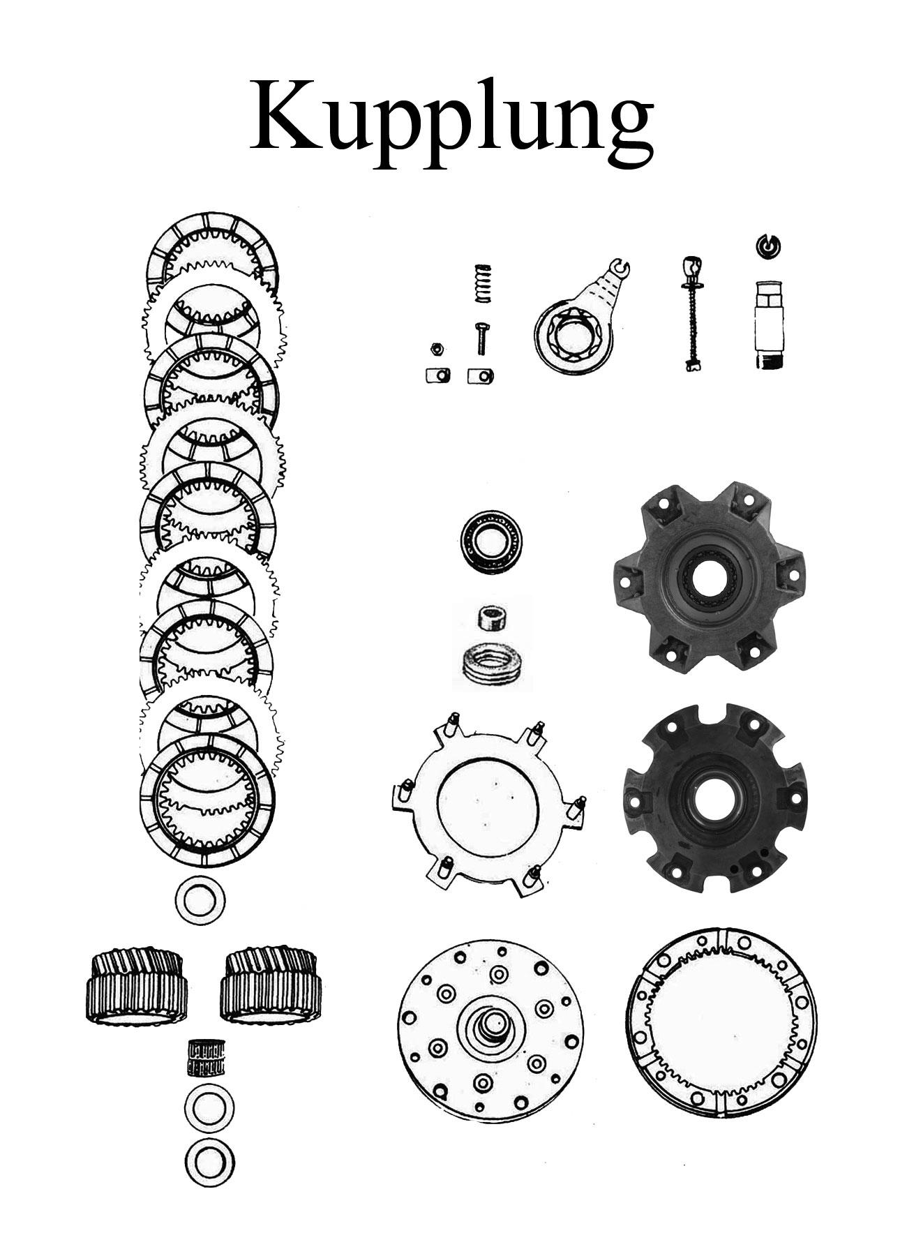 MZ TS 250/0-1 Ersatzteile Motor Kupplung