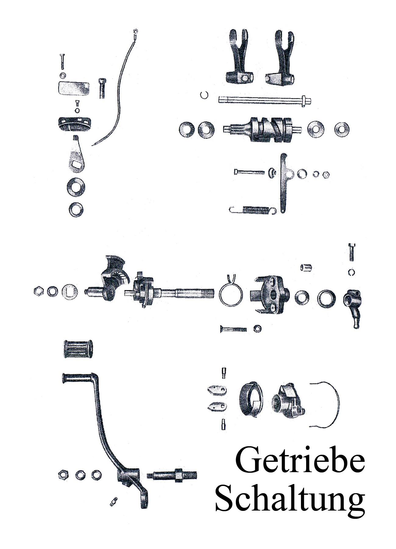 DDR-Motorrad IFA MZ BK 350 Ersatzteileliste Getriebe Fußschalthebelgummi