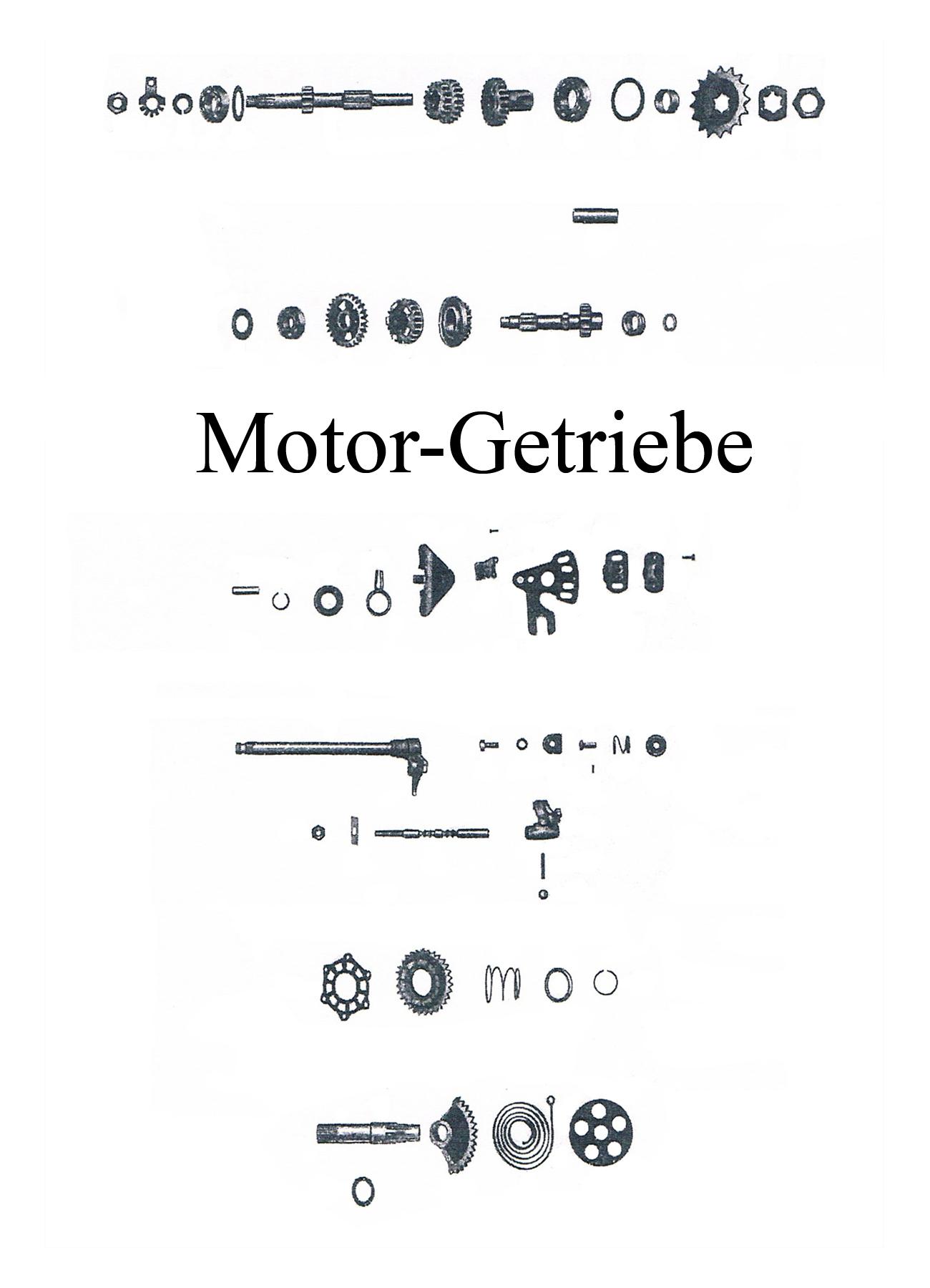 DDR-Motorrad IWL Berliner Roller SR 59 Ersatzteileliste Motor Getriebe Zahnrad Ritzel Welle Mutter Sicherungsblech