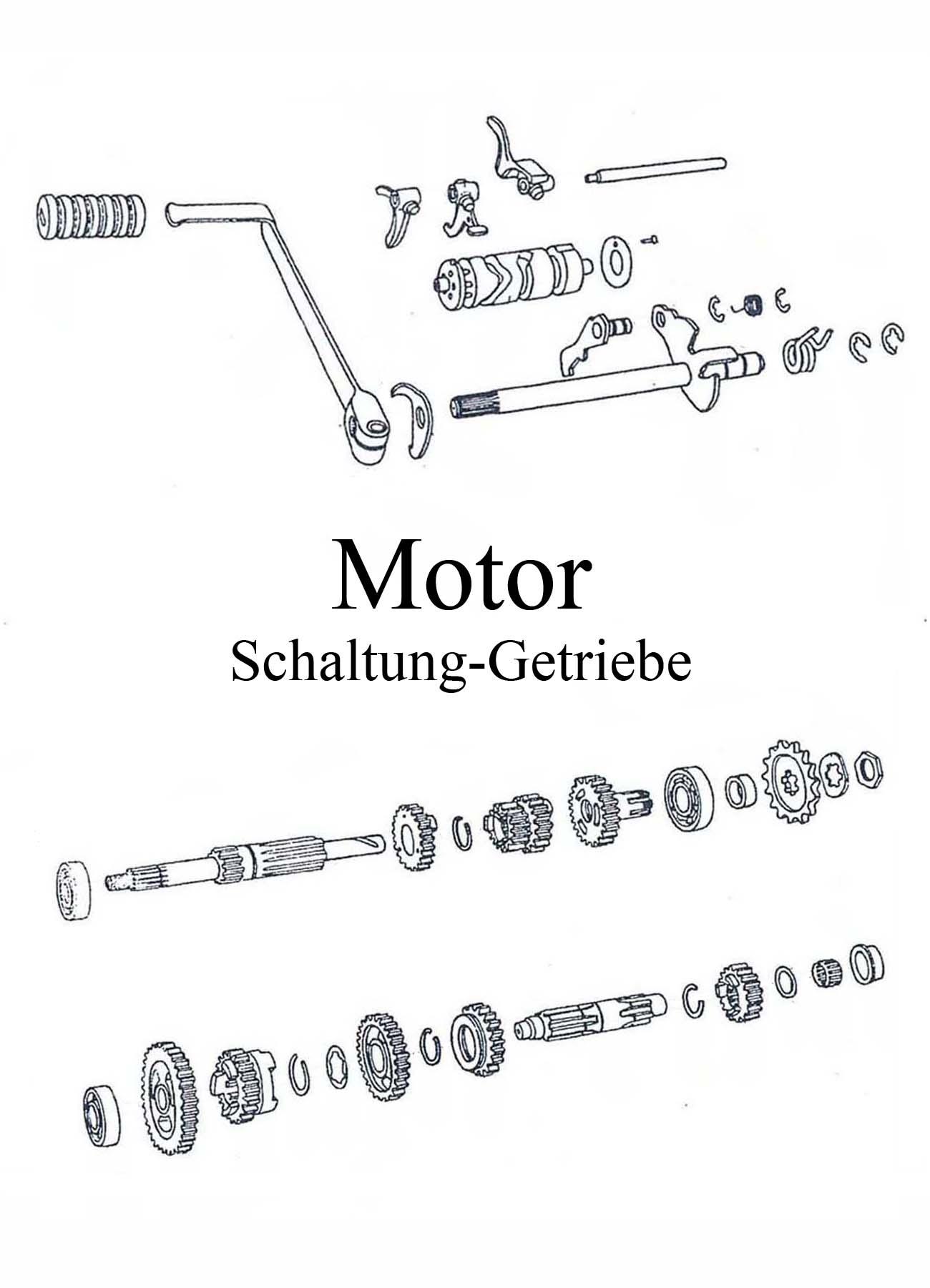 MZ ETZ 125-150 Ersatzteileliste Motor 5-Gang-Getriebe Fußschaltung Hebel Gummi Welle Zahnrad Schaltrad Gummi