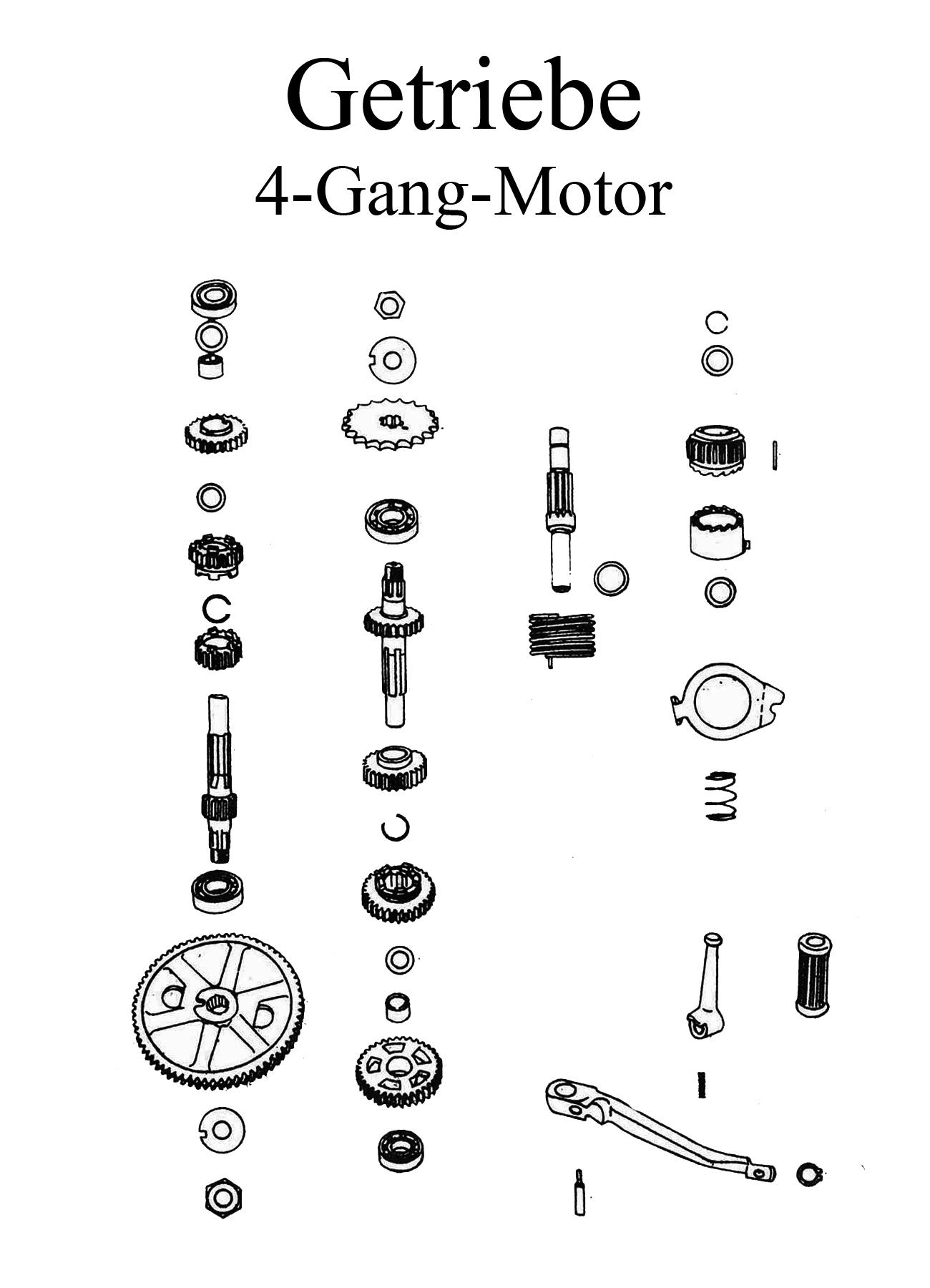 MZ TS 250 Ersatzteile Motor 4-Gang-Getriebe