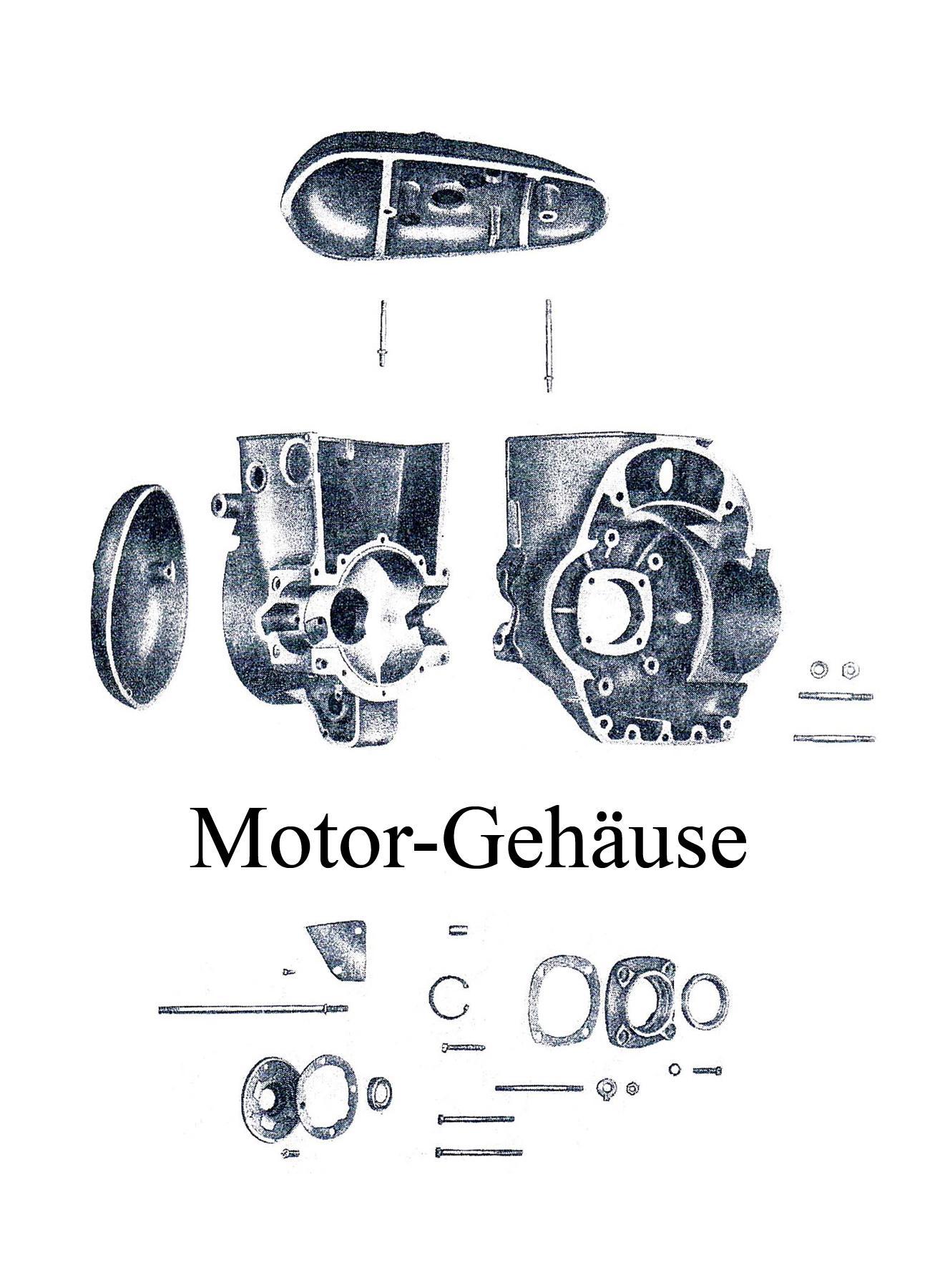 DDR-Motorrad IFA MZ BK 350 Ersatzteileliste Motorgehäuse Dichtungen Kugellager
