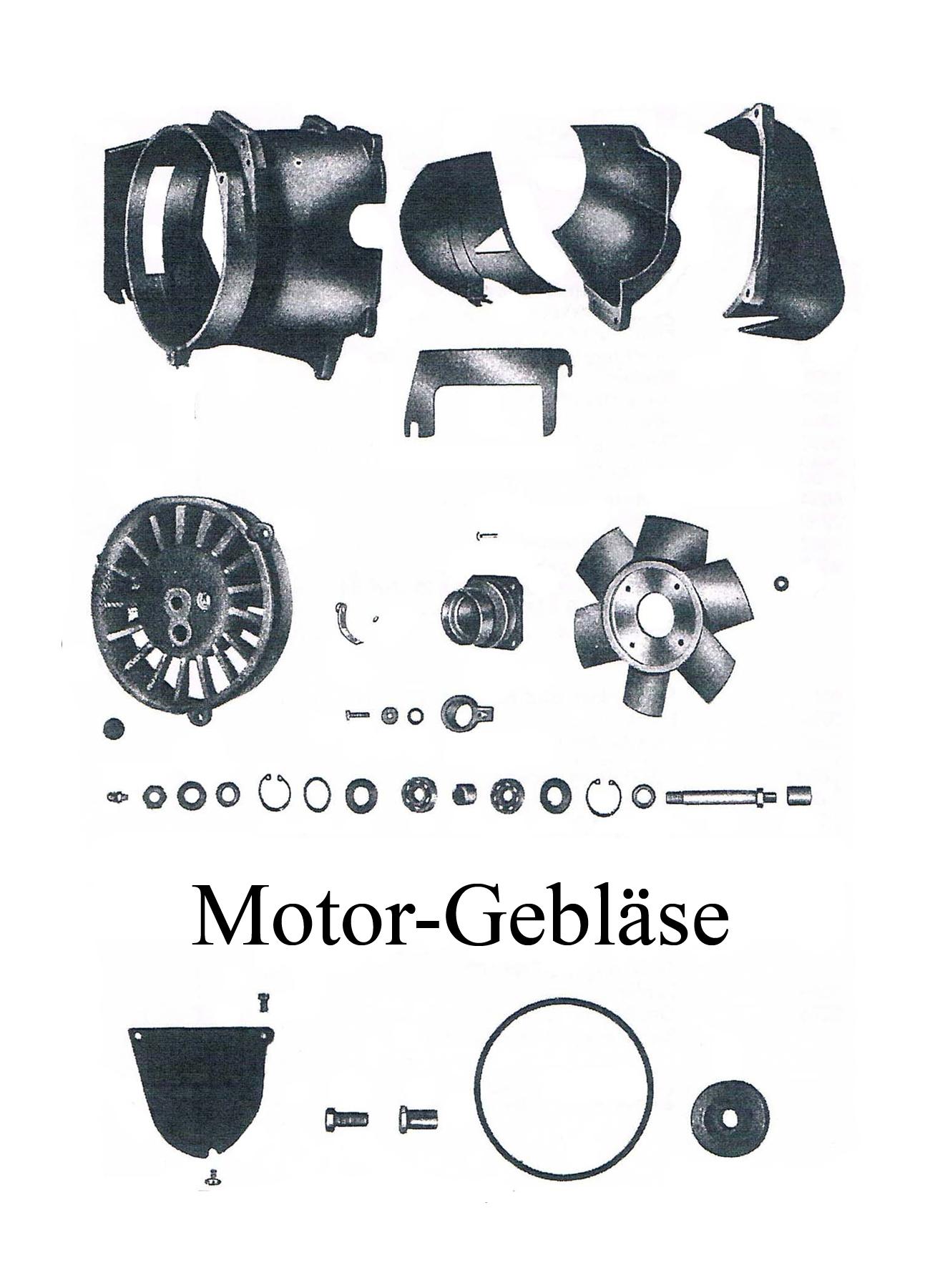 DDR-Motorrad IWL Berliner Roller SR 59 Ersatzteileliste Motor Gebläse Keilriemenscheibe Lager Gummistopfen