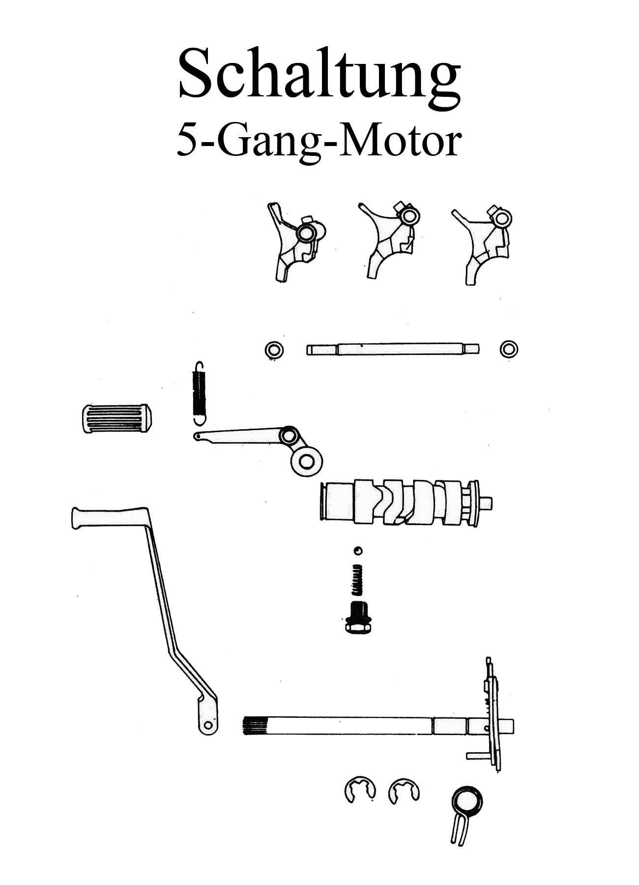 MZ TS 250/1 Ersatzteile 5 Gang Motor Schaltung