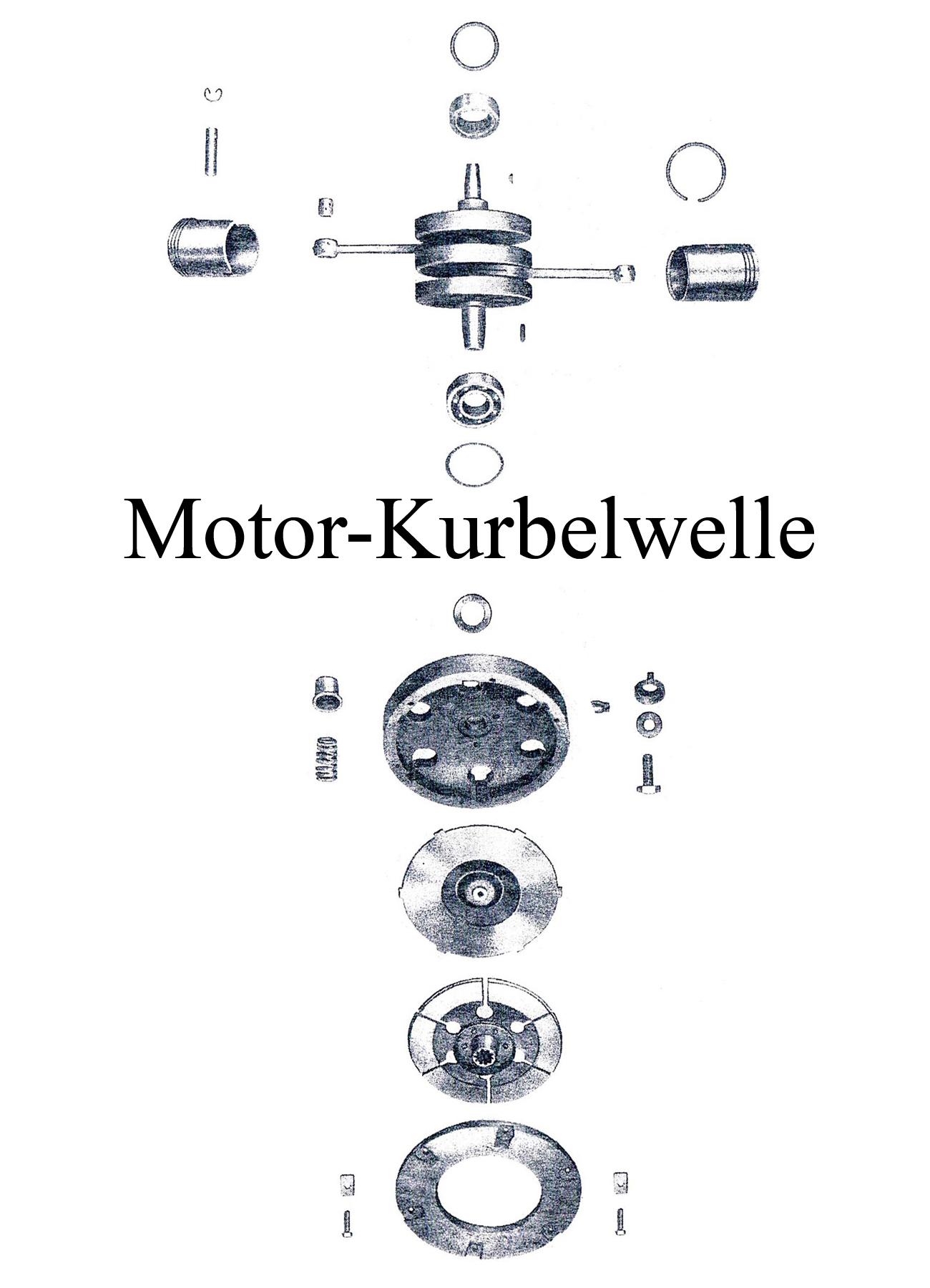 DDR-Motorrad IFA MZ BK 350 Ersatzteileliste Motor Kurbelwelle Kolben Kupplung