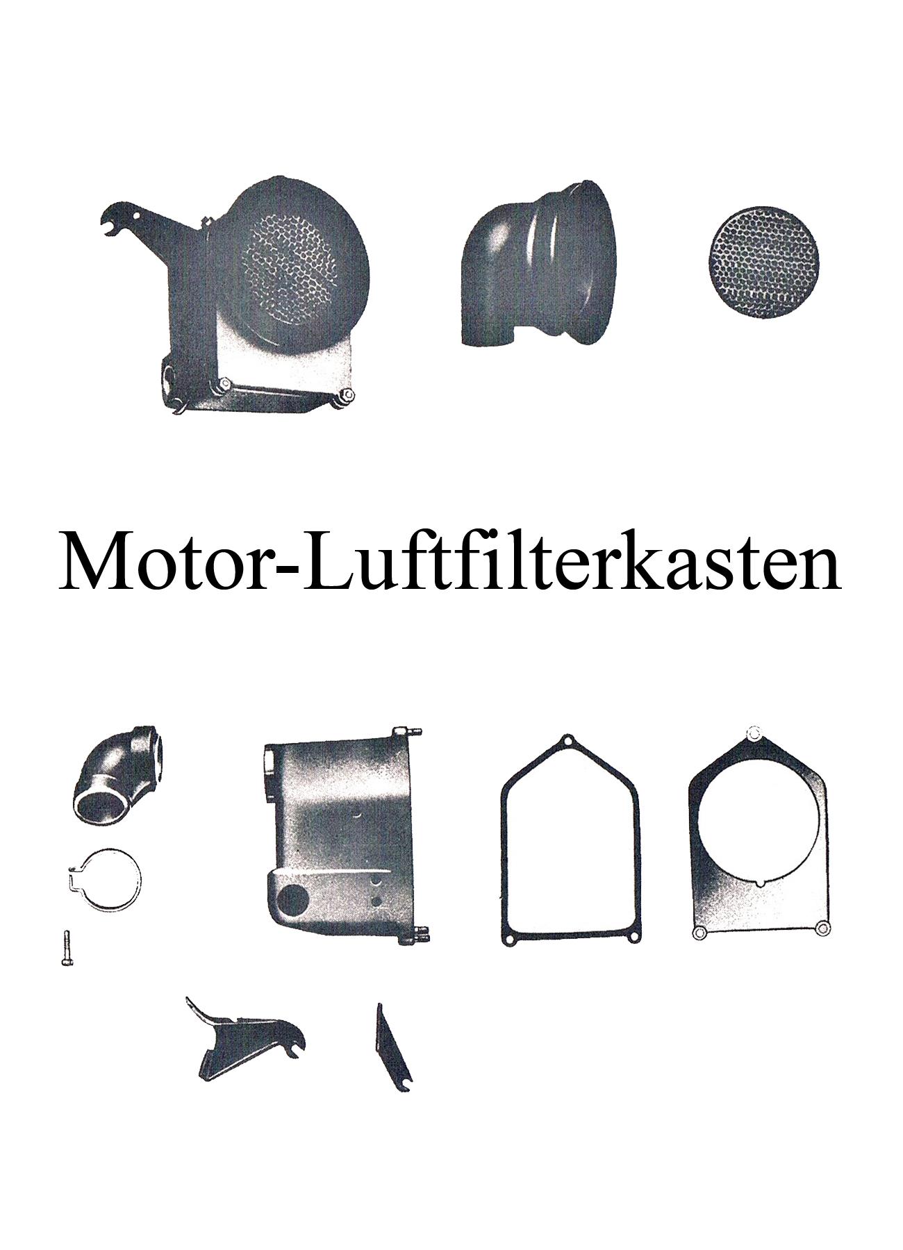 DDR-Motorrad IWL Berliner Roller SR 59 Ersatzteileliste Motor Luftfilterkasten Aufnahmegummi Anschlußstutzen