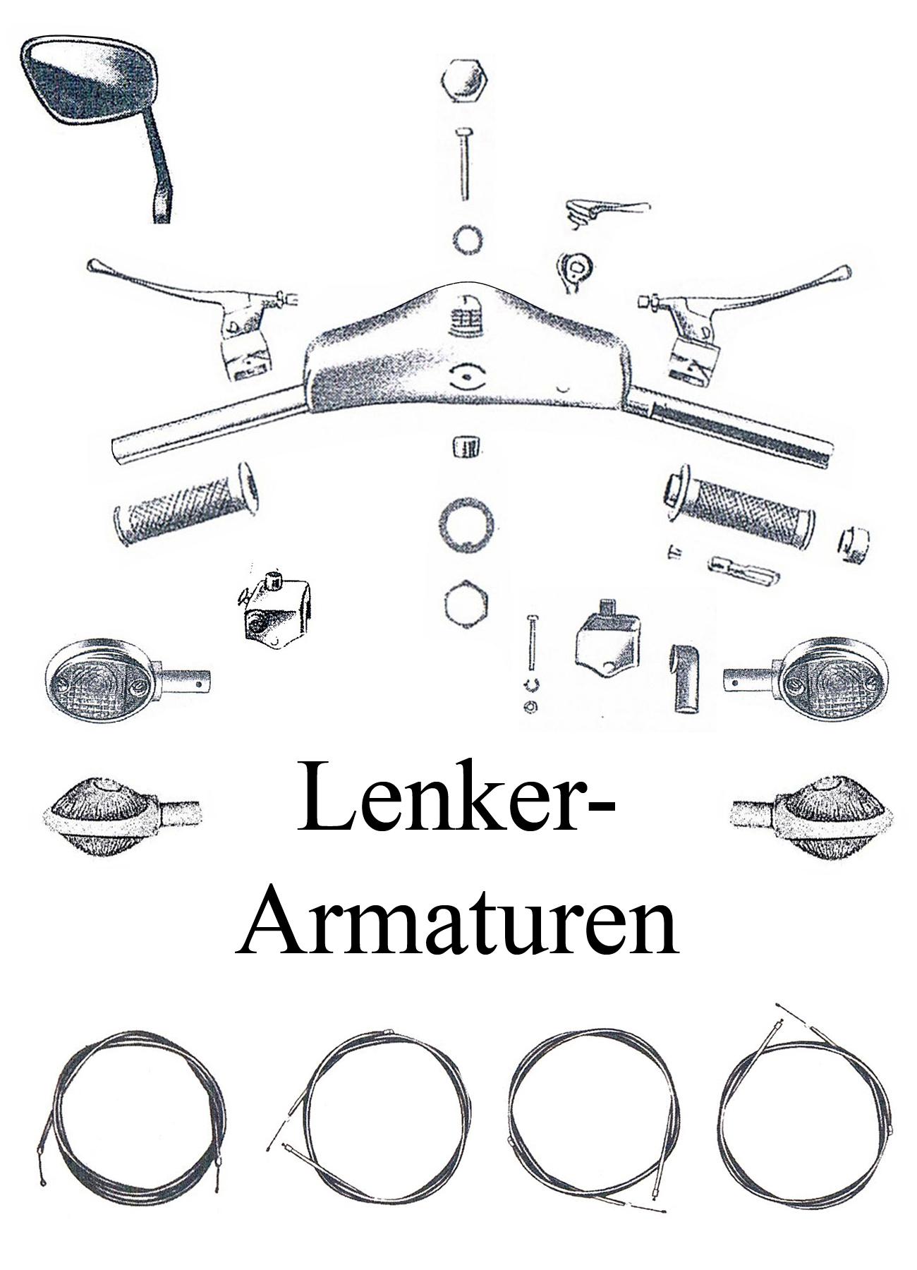 MZ ES 125-150/0-1 Ersatzteileliste Lenker Blinker Spiegel Schalter Armaturen