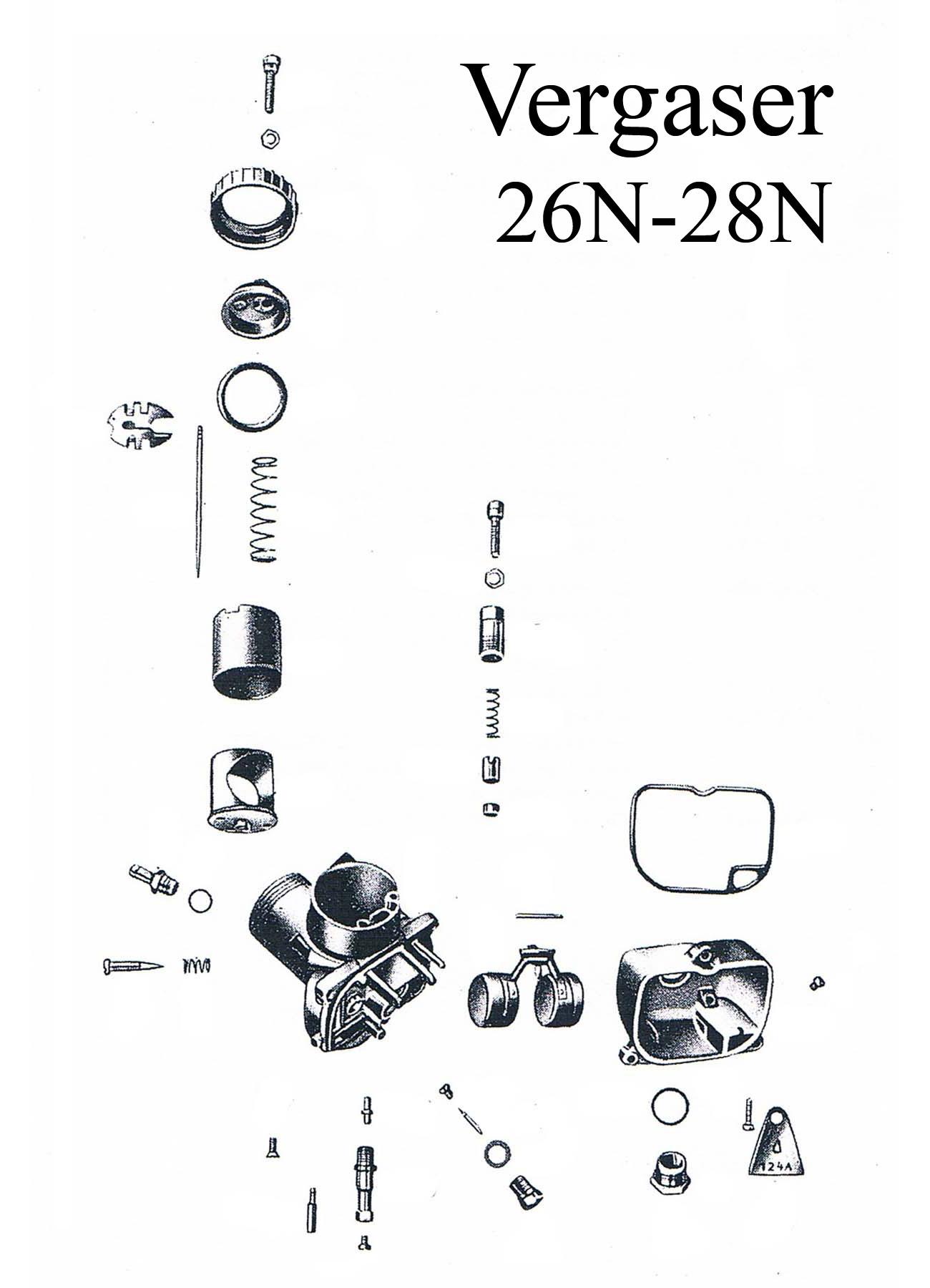 MZ ES 175/2-250/2 Ersatzteileliste BVF Vergaser 26N-28N Schwimmer Nadel Reparaturset