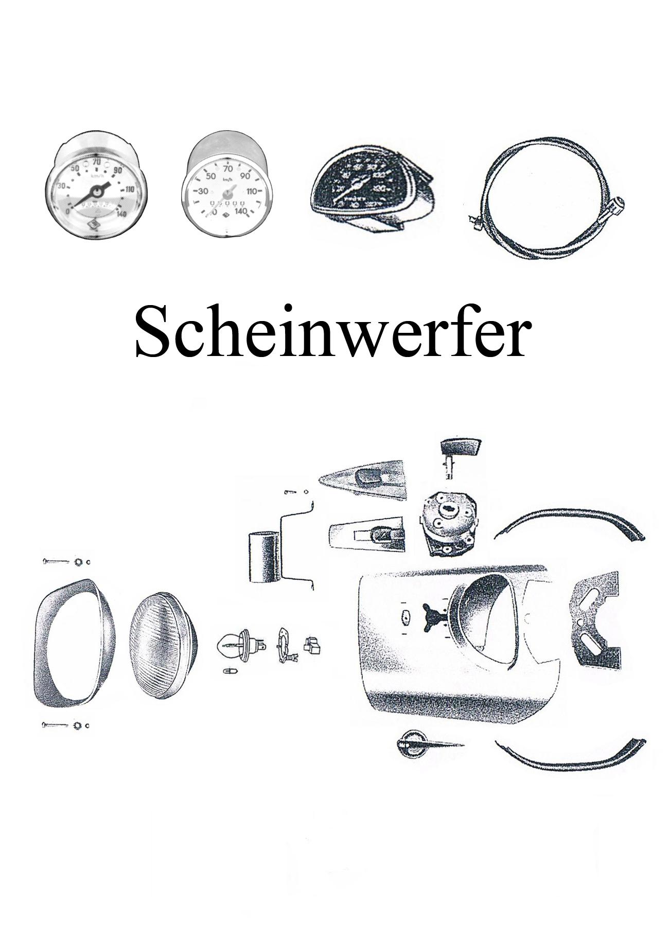 DDR-Motorrad MZ ES 125-150/0-1 Ersatzteileliste Scheinwerfer Tachometer Reflektor Streuscheibe Zündschloßabdeckung Lampen Birnen Embleme