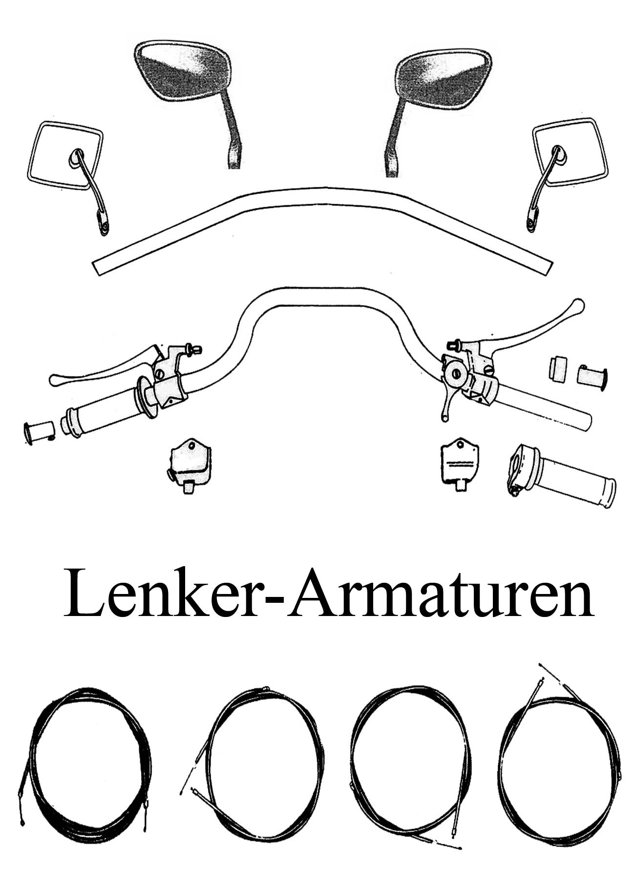 DDR-Motorrad MZ TS 125 150 Ersatzteile Lenker Armaturen