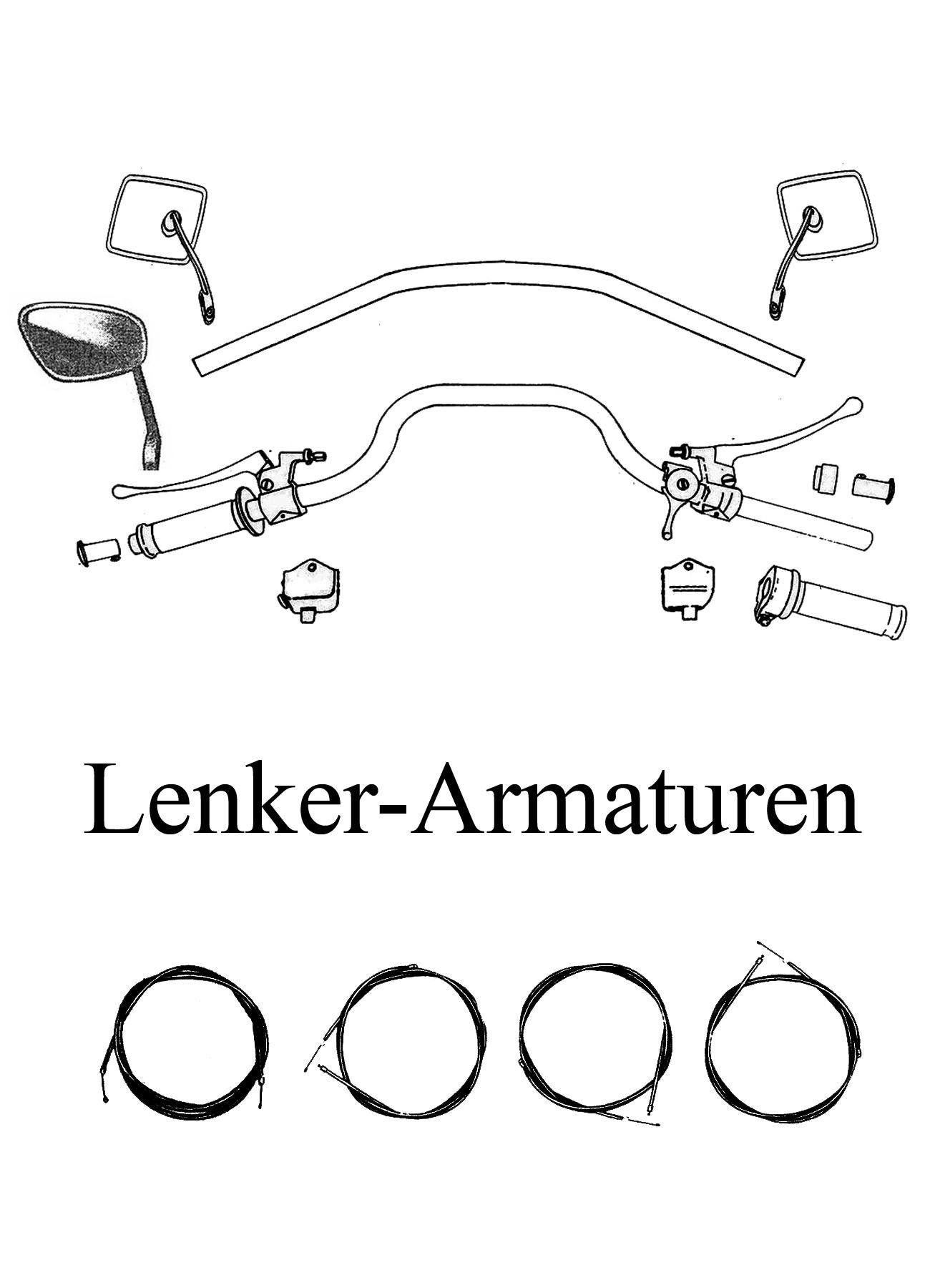 MZ TS 250/1 Ersatzteile Lenker Armaturen
