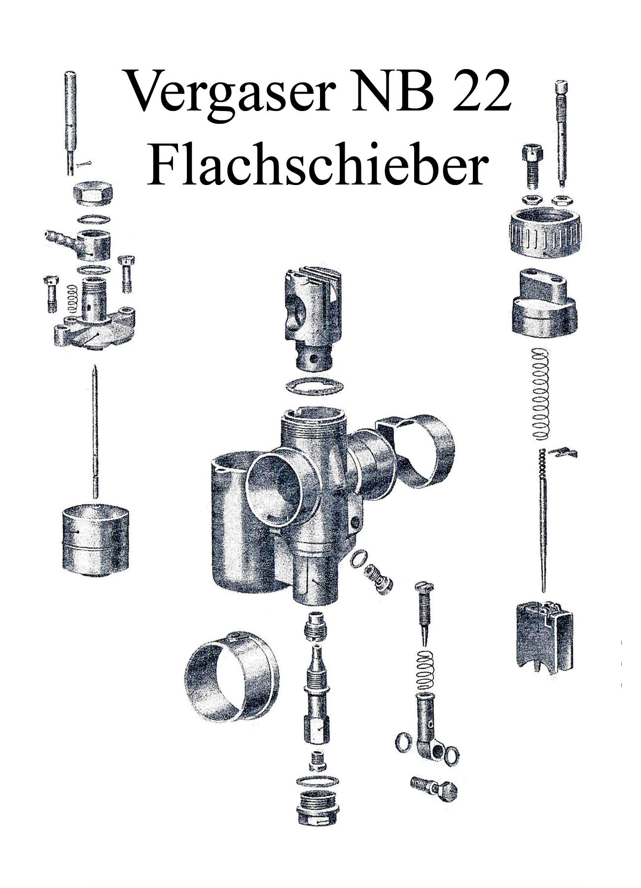 DDR-Motorrad IFA MZ BK 350 Ersatzteileliste Vergaser NB 22 Flachschieber