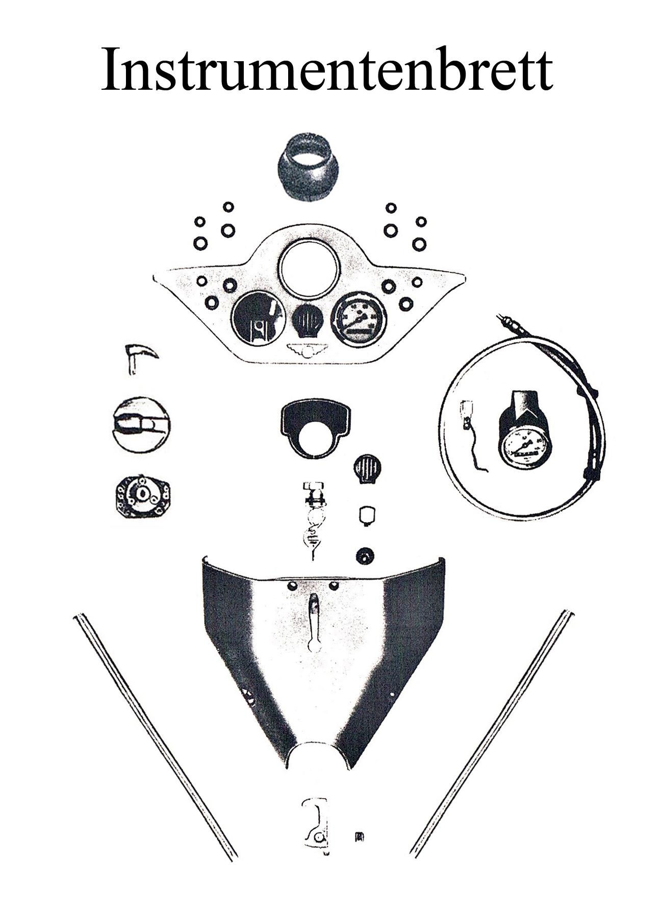 DDR-Motorrad IWL Berliner Roller SR 59 Ersatzteileliste Instrumentenbrett Tachometerwelle Kedergummi Zündschloß-schlüssel