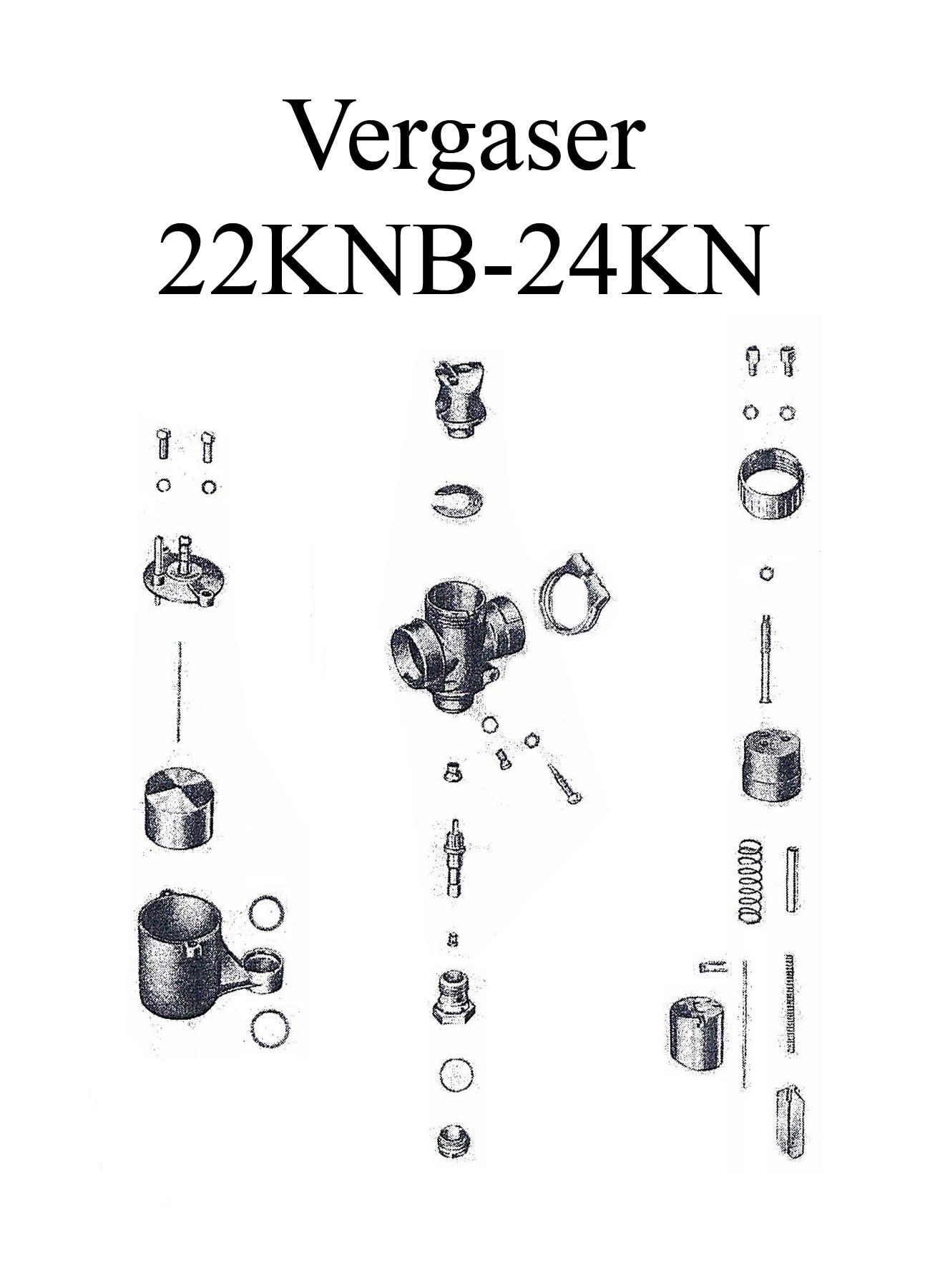 DDR-Motorrad MZ ES 125-150 Ersatzteileliste BVF Vergaser 22KNB-24KN Düse Dichtung Schwimmer Teillastnadelhalter Schieber Feder Hülse Reparaturset