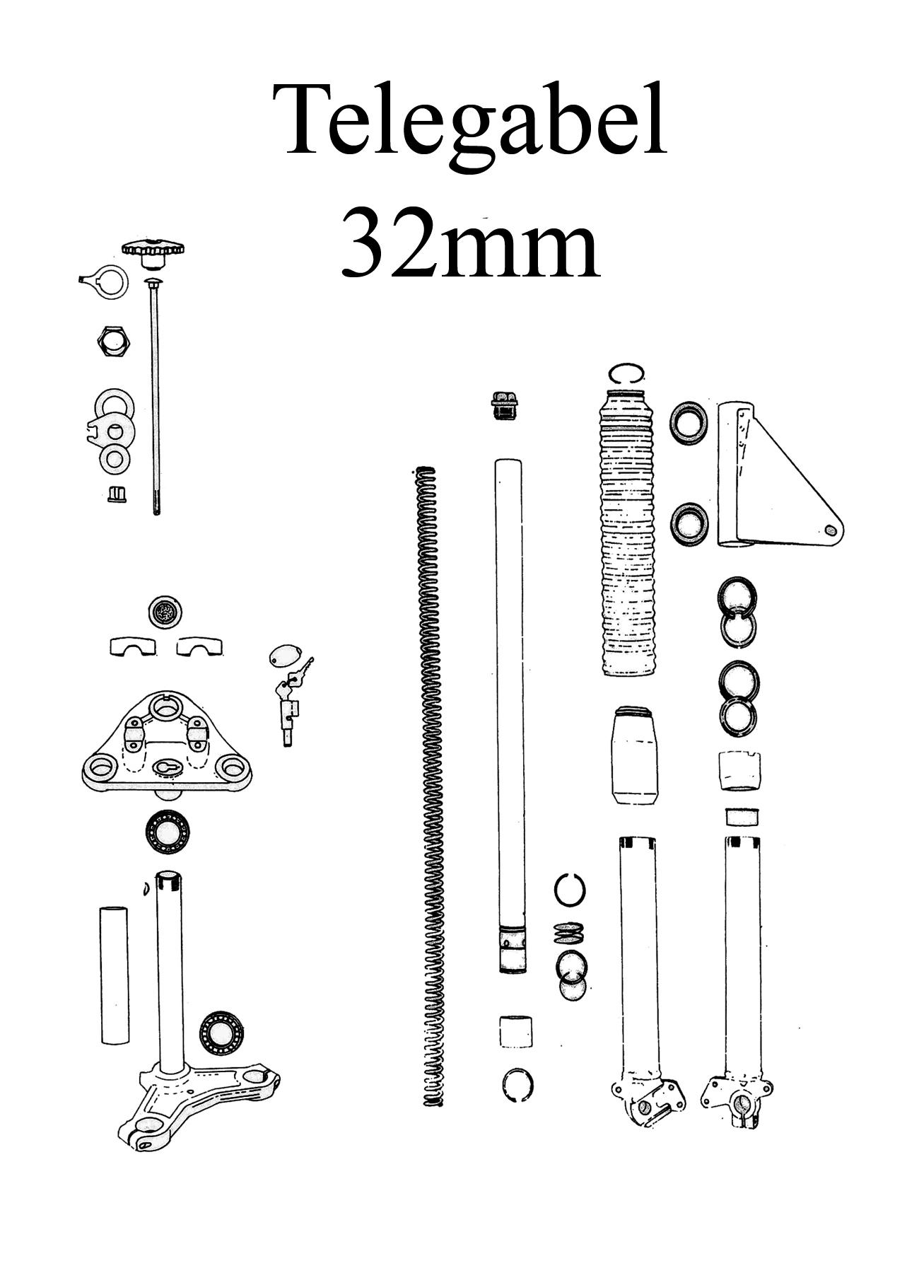 MZ TS 250/0-1 Ersatzteileliste Telegabel 32mm